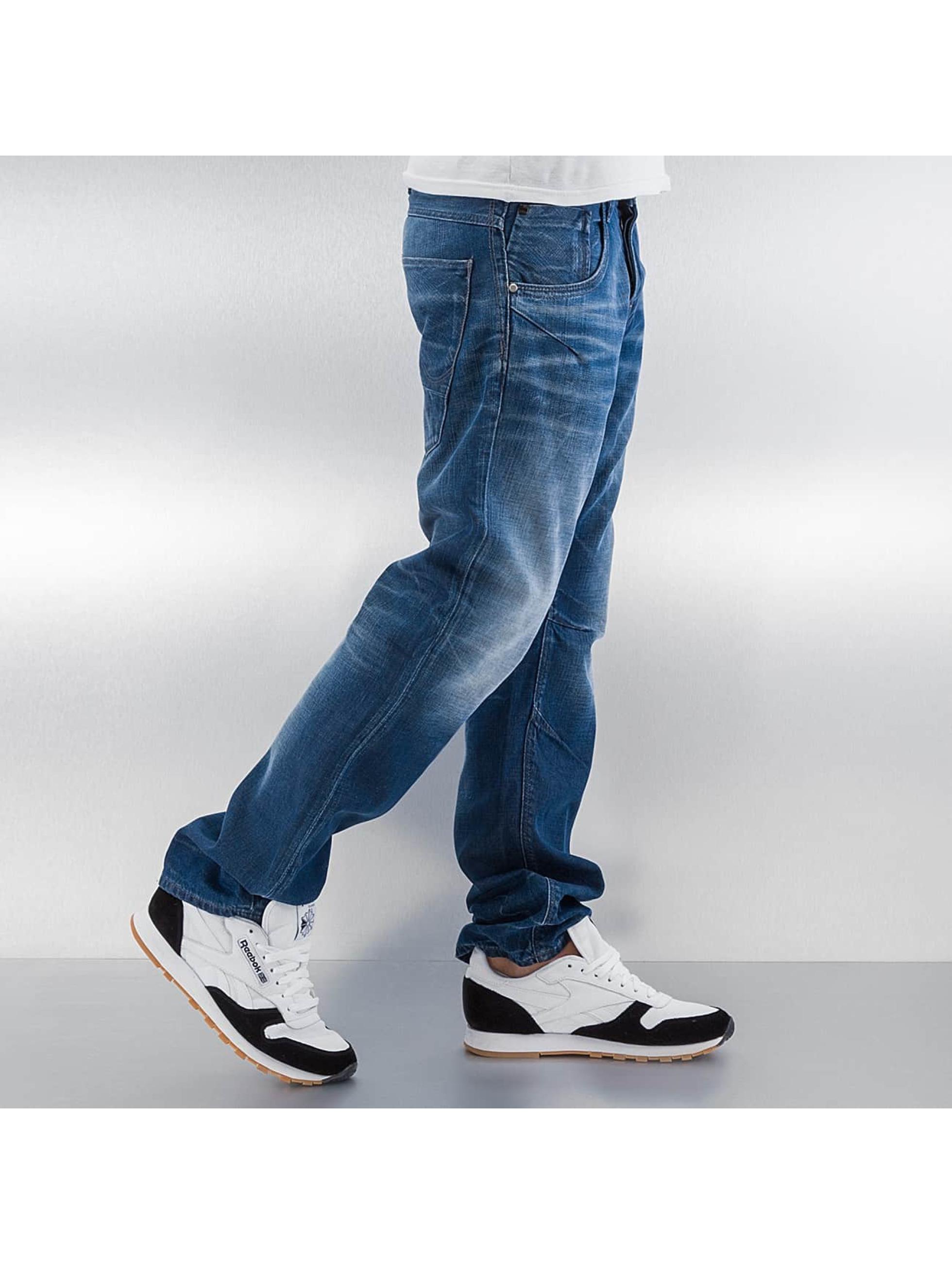 Jack & Jones Straight fit jeans jjBoxy jjLeed blauw