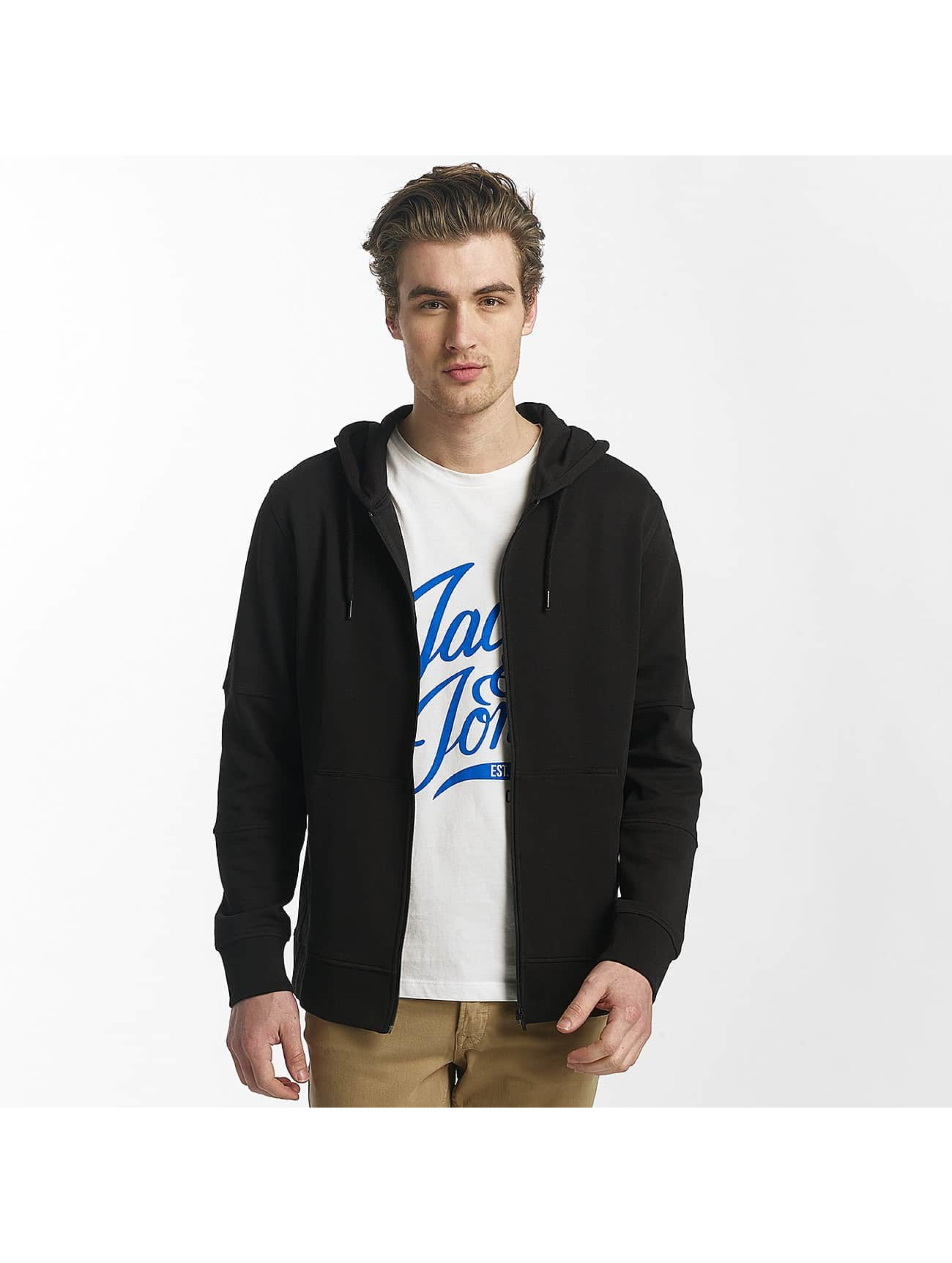 Jack & Jones Sweat capuche zippé jcoShaun noir