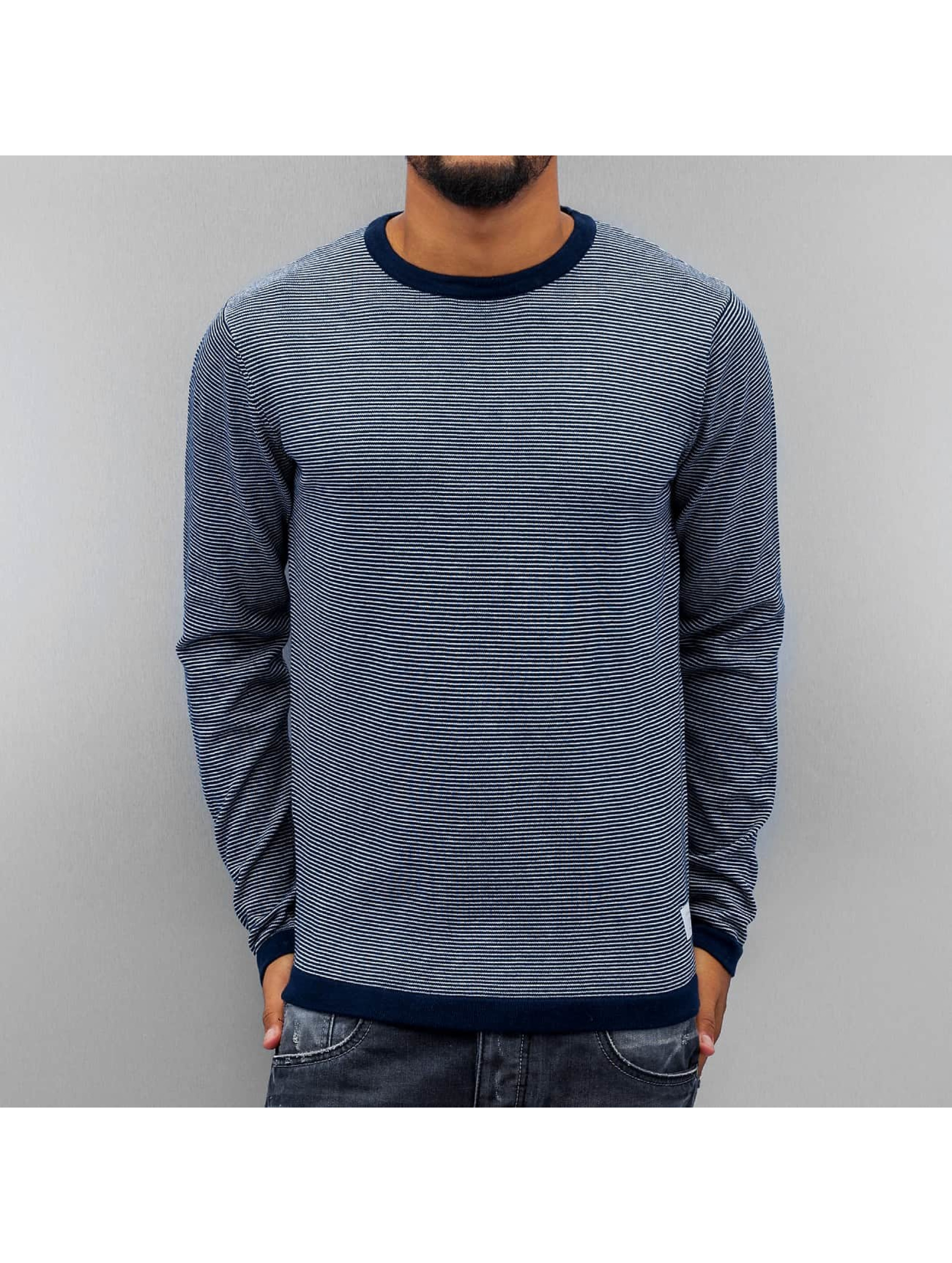Jack & Jones Swetry jjcoChris Knit niebieski