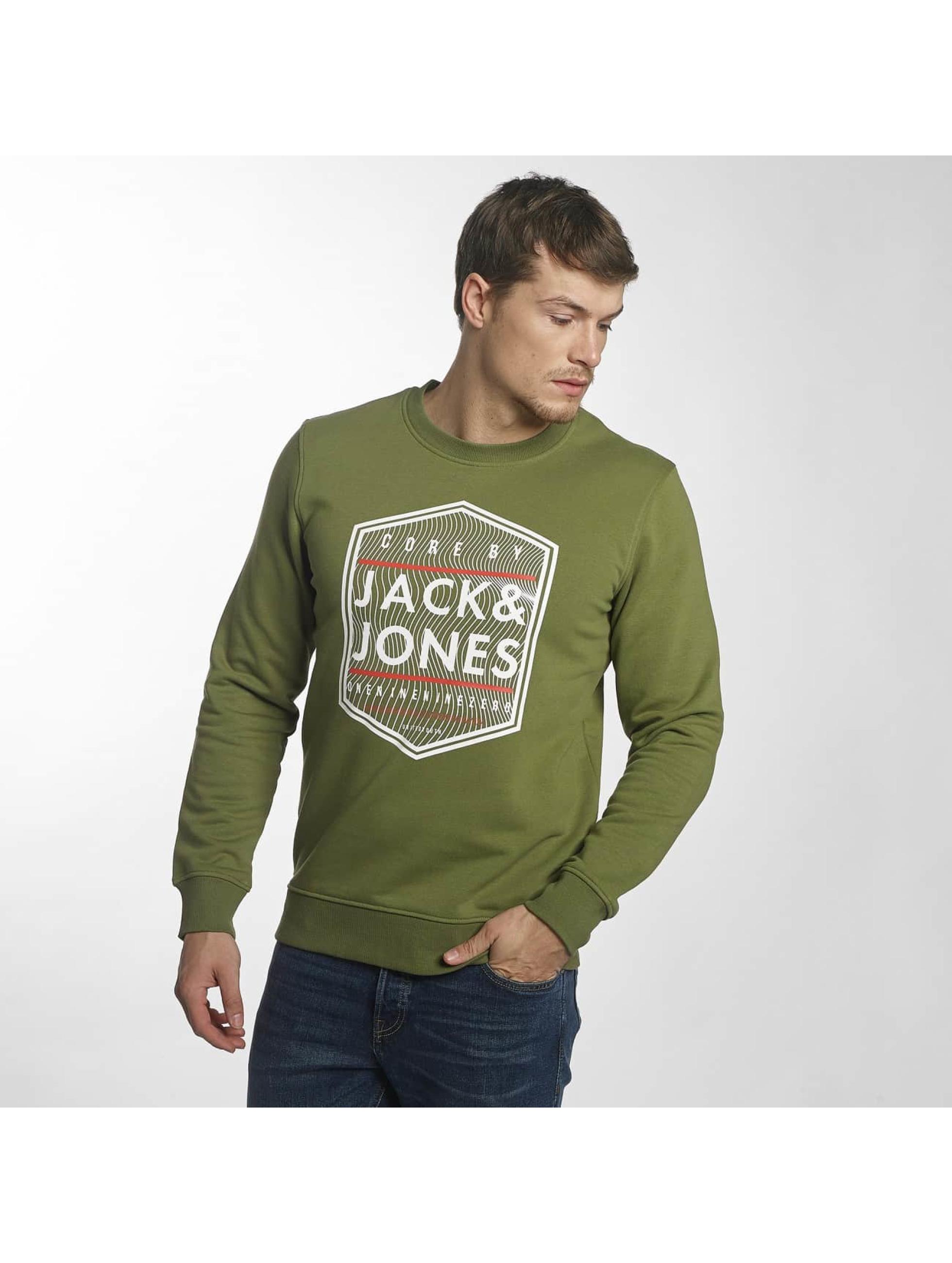 Jack & Jones Swetry jcoGeometric zielony
