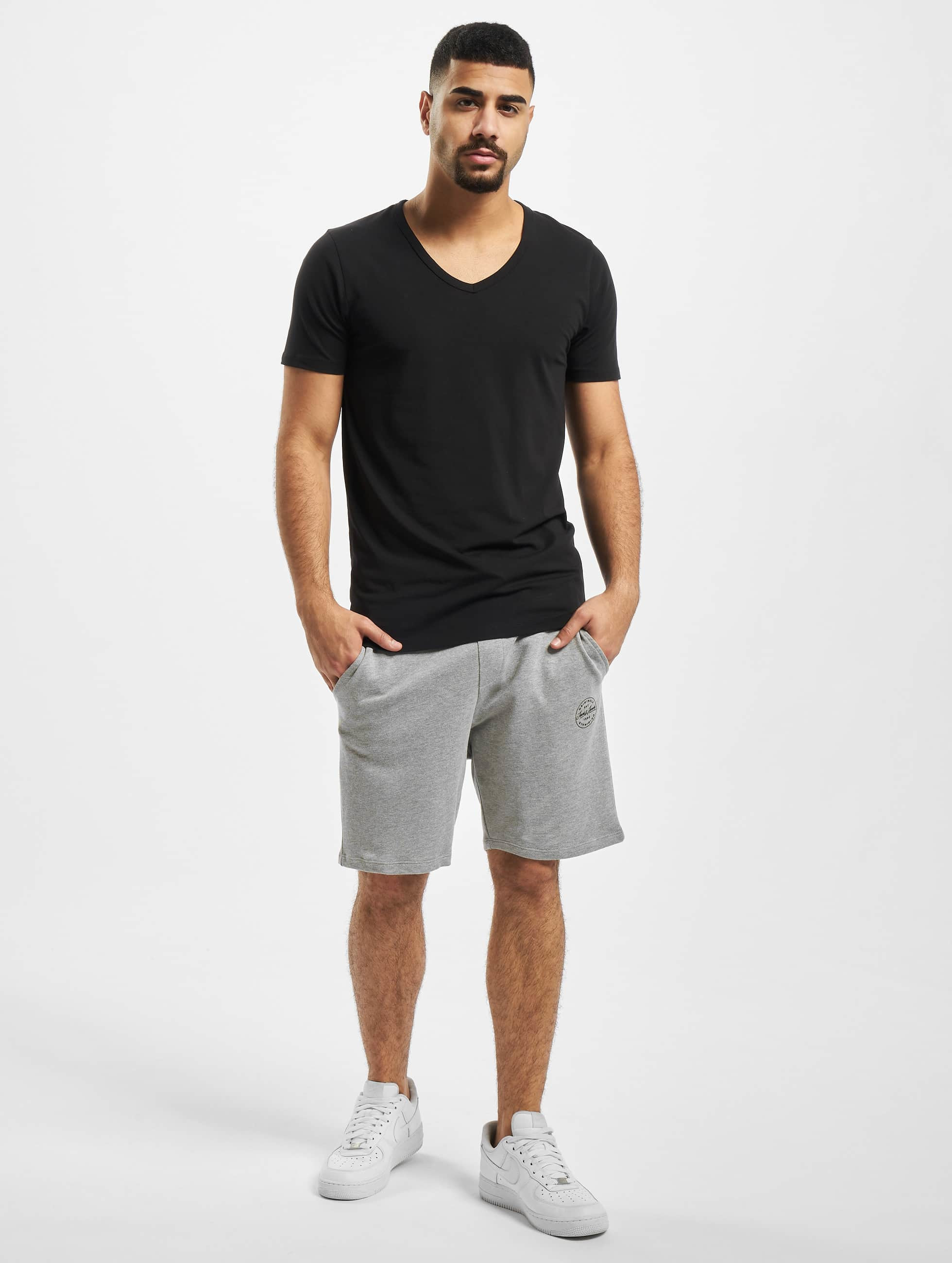 Jack & Jones T-paidat Core Basic V-Neck musta