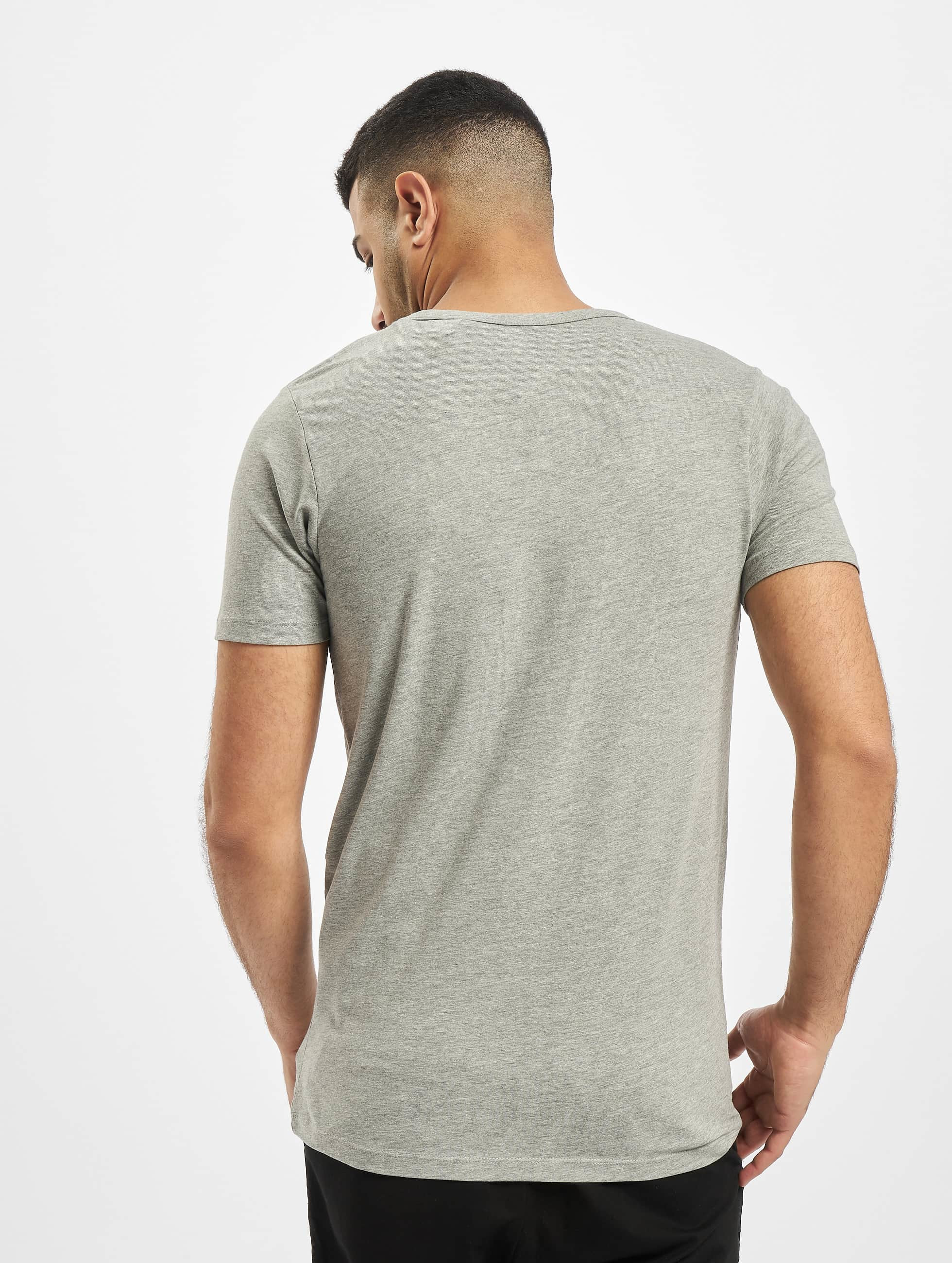 Jack & Jones T-Shirt Core Basic V-Neck grau