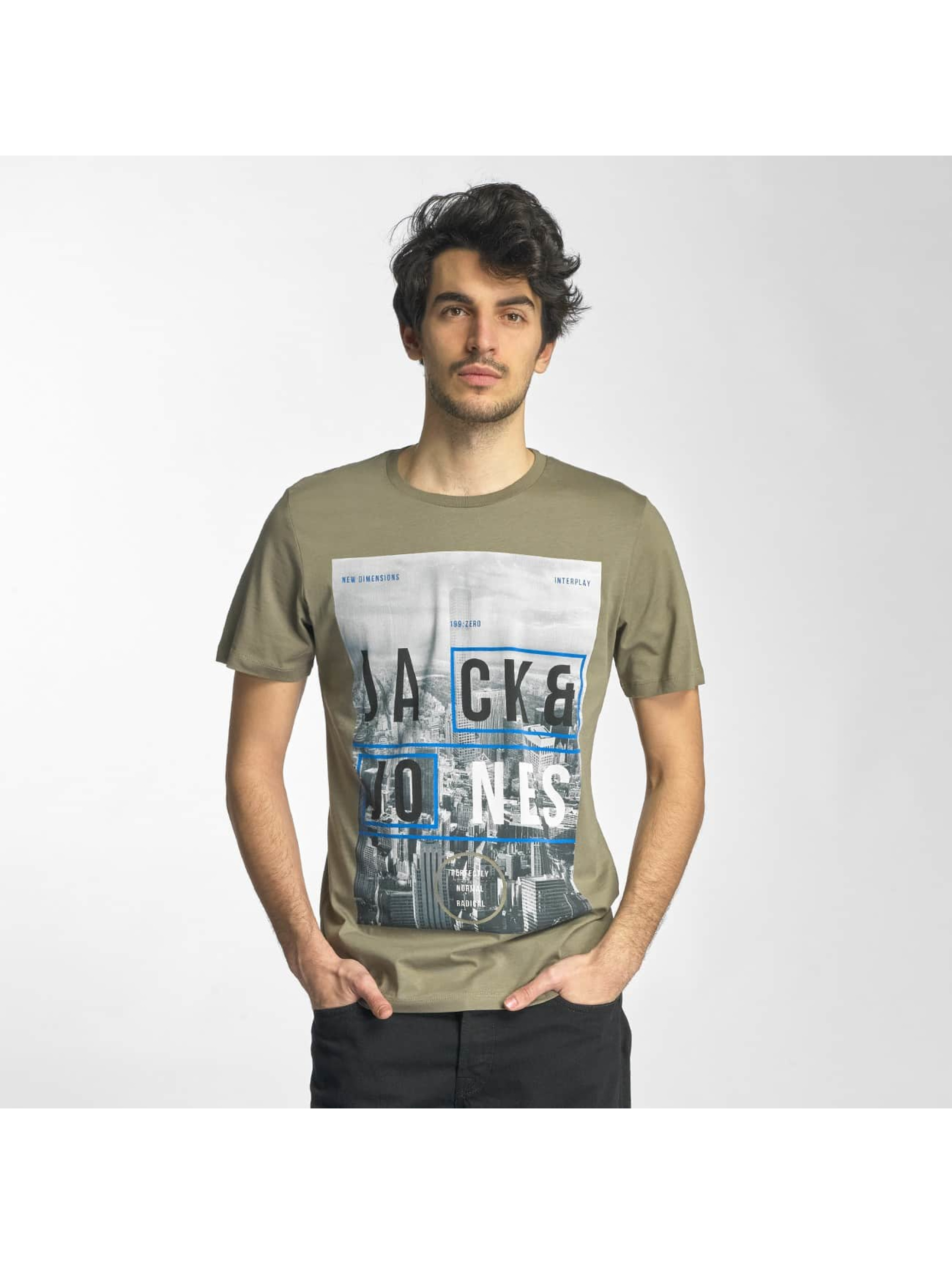 Jack & Jones T-Shirt jcoMoin green
