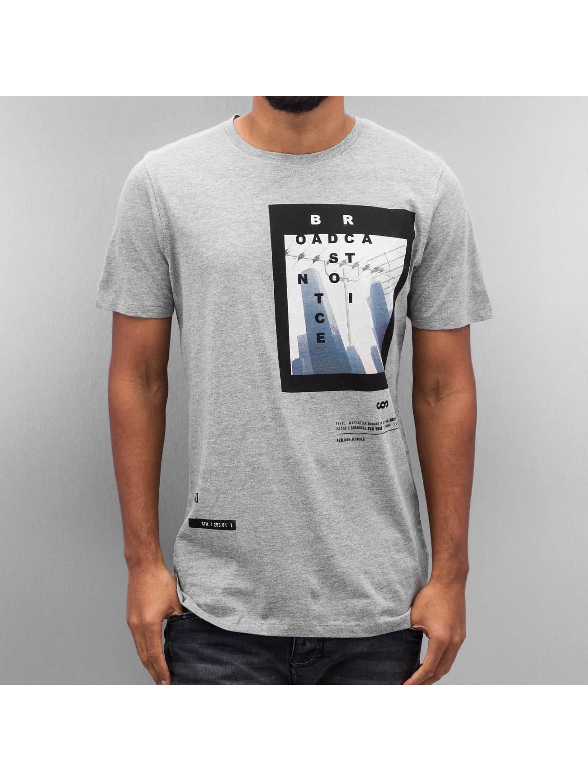 Jack & Jones T-Shirt jcoAuthority grey