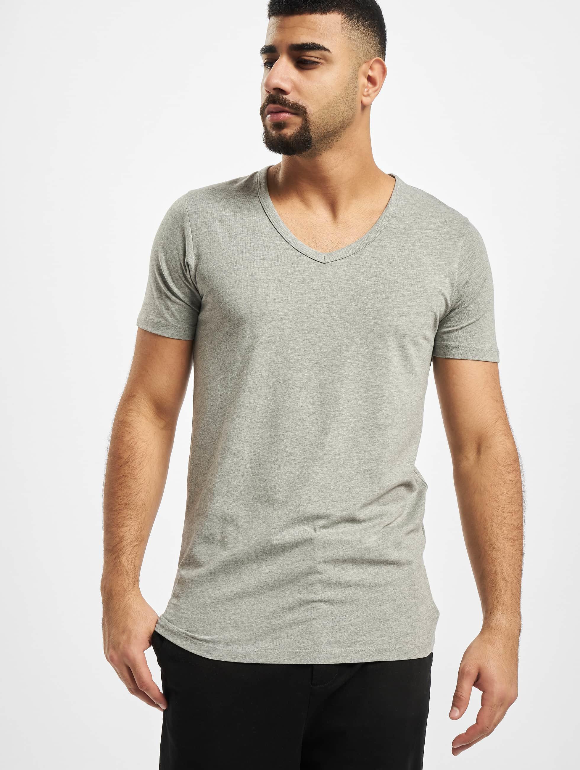Jack & Jones t-shirt Core Basic V-Neck grijs