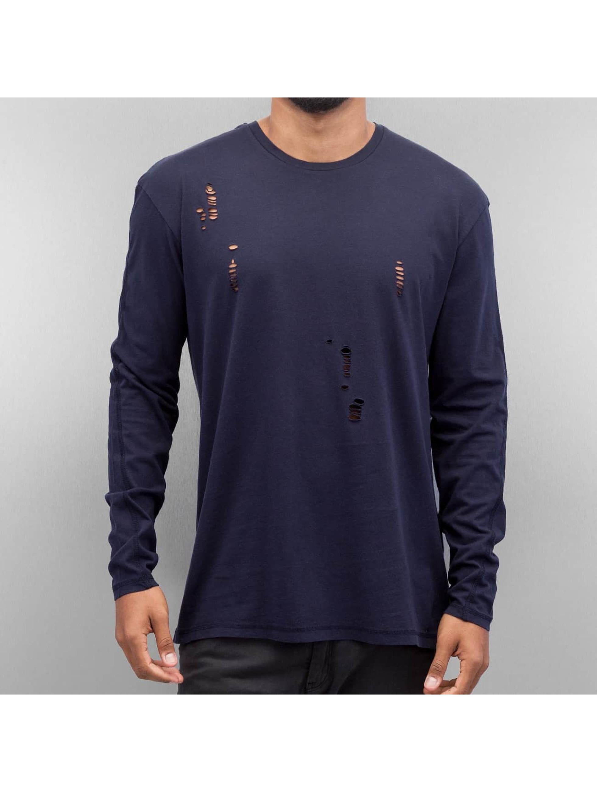 Jack & Jones T-Shirt manches longues jorTwist bleu