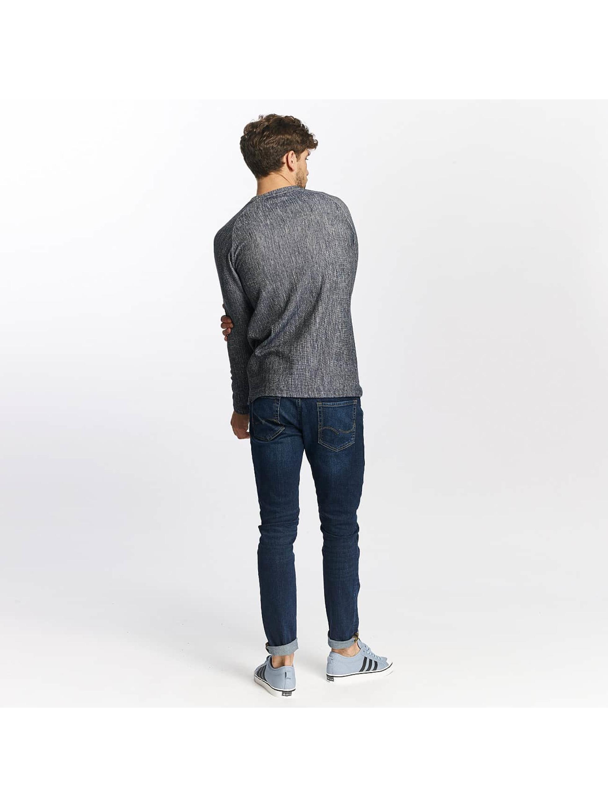 Jack & Jones T-Shirt manches longues jprCashed bleu