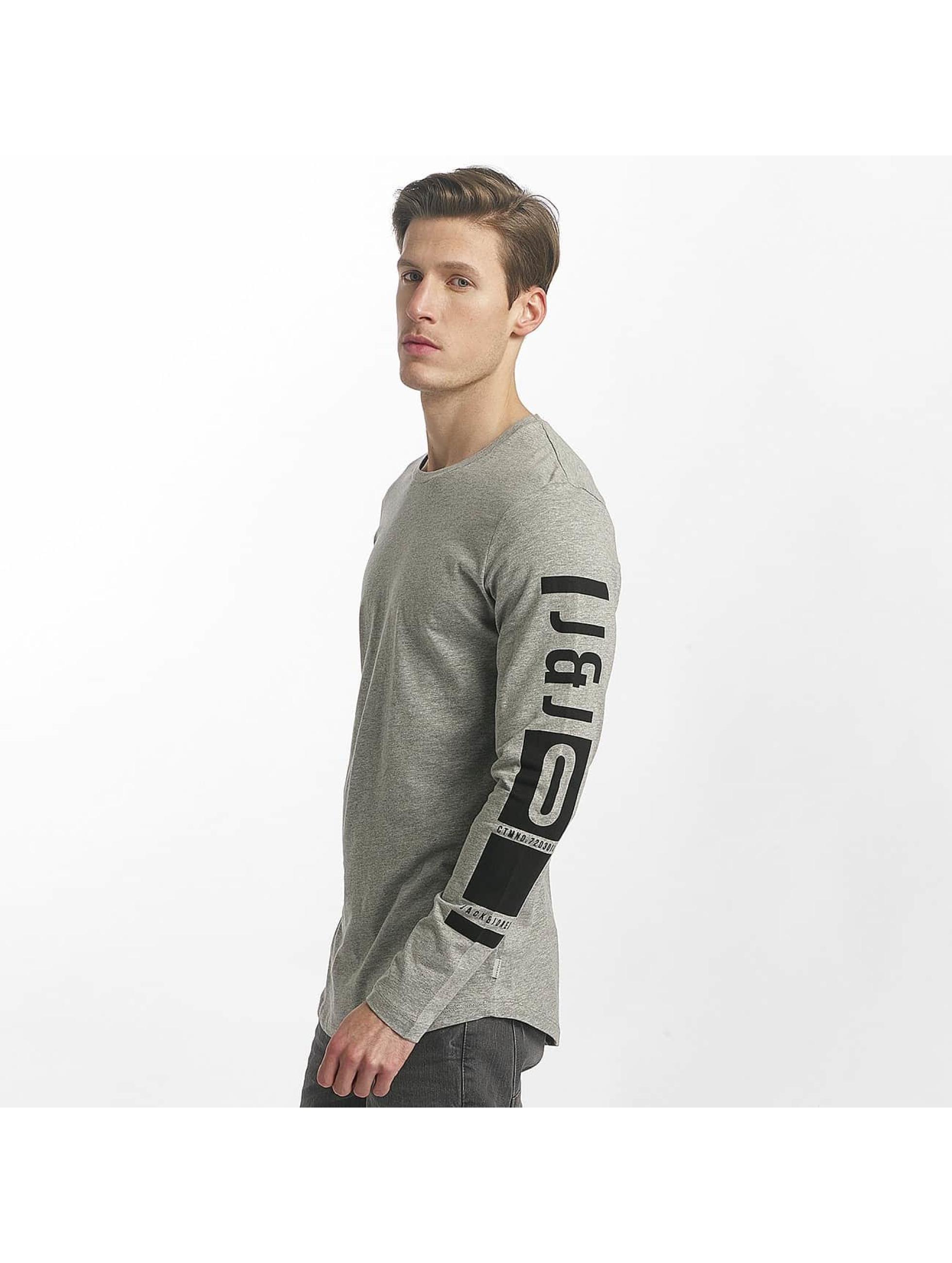 Jack & Jones T-Shirt manches longues coLoose gris