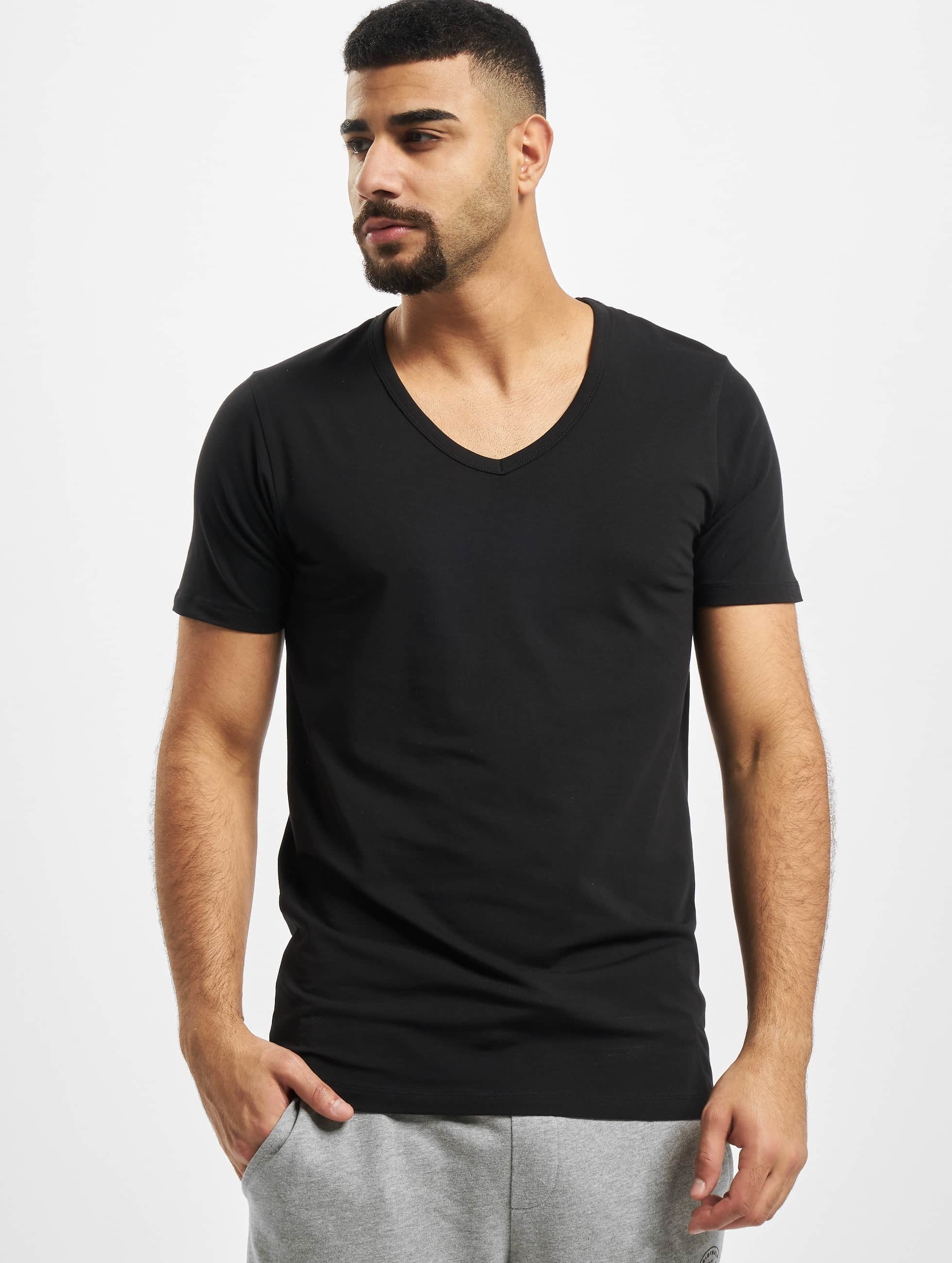 Jack & Jones T-Shirt Core Basic V-Neck noir