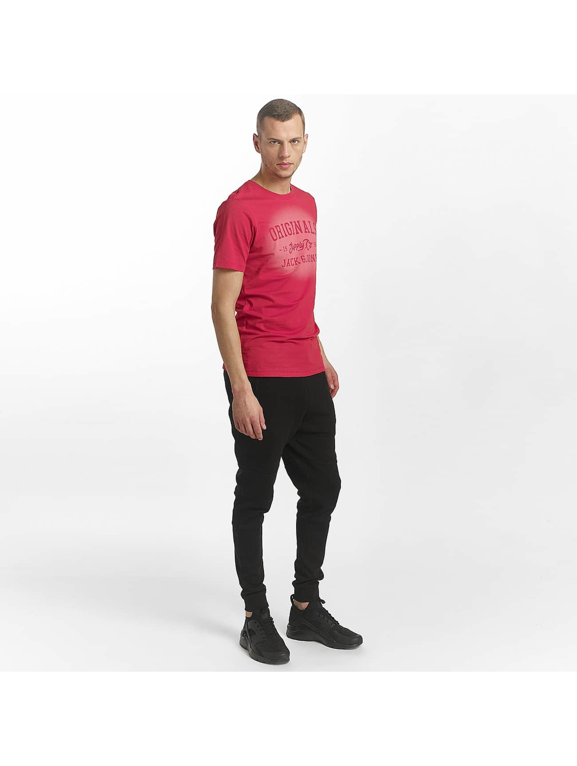 Jack & Jones t-shirt jorStencild rood