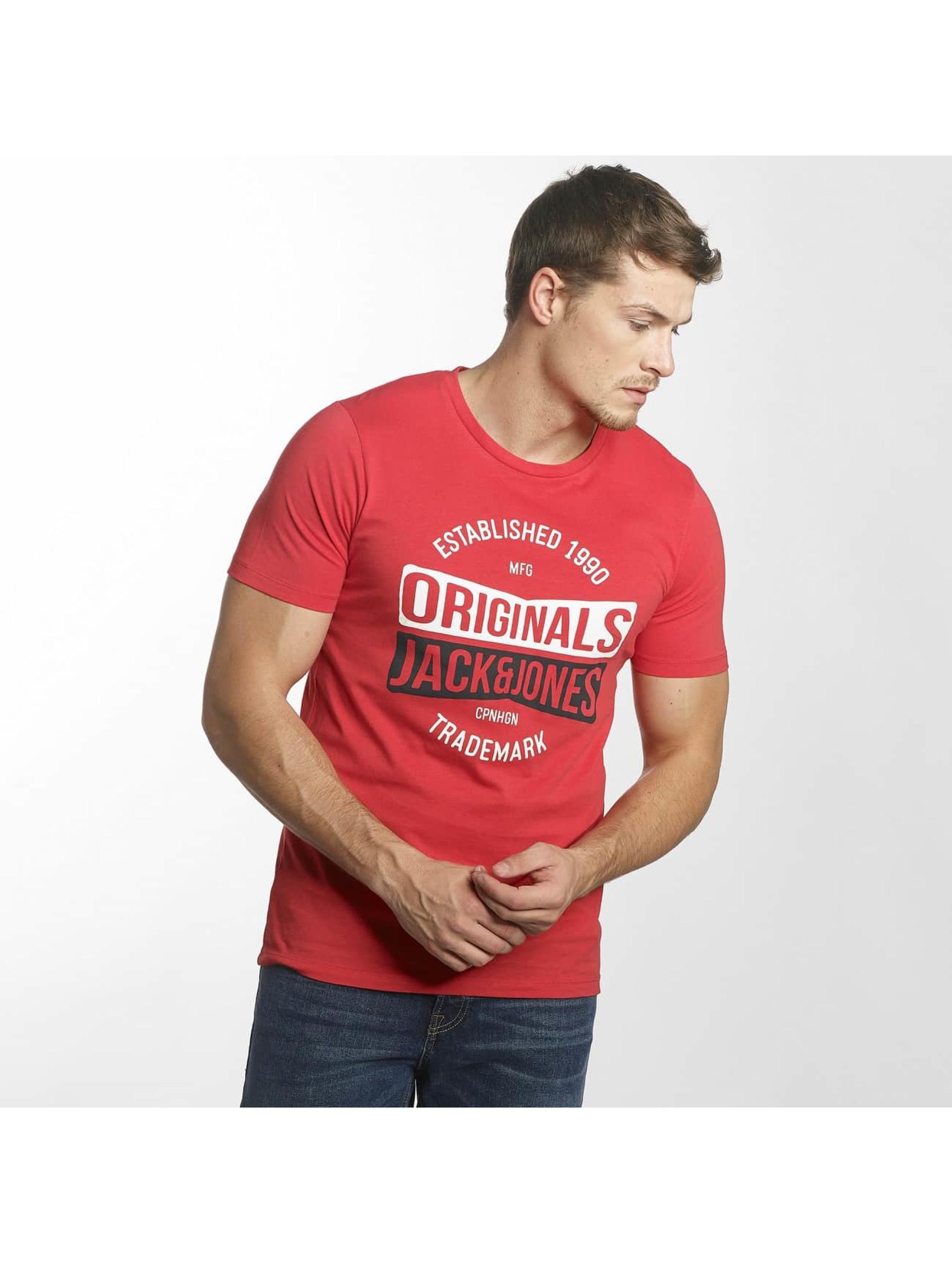 Jack & Jones T-Shirt jorMusai rot