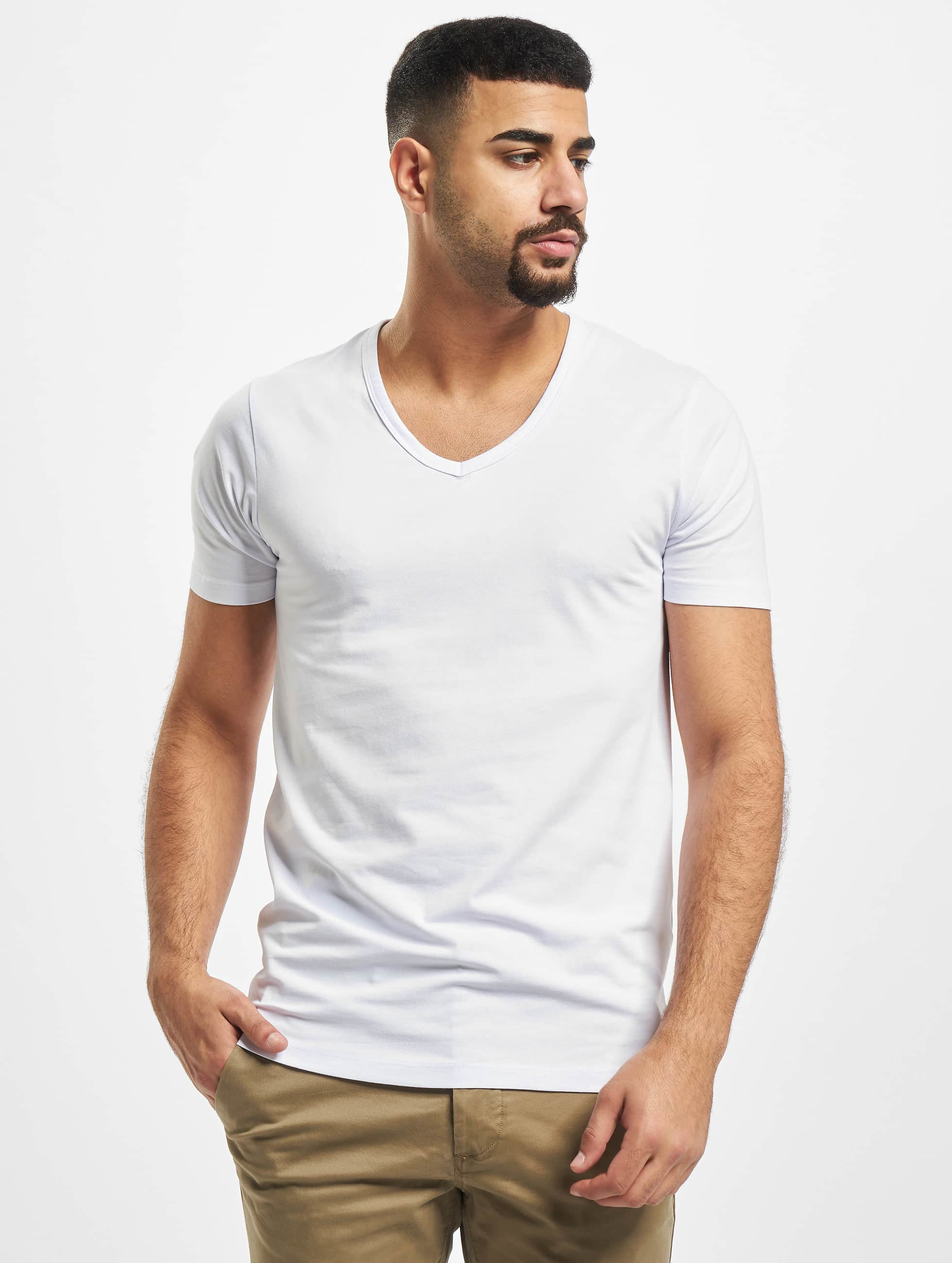 jack jones herren t shirt core basic v neck in wei 85483. Black Bedroom Furniture Sets. Home Design Ideas
