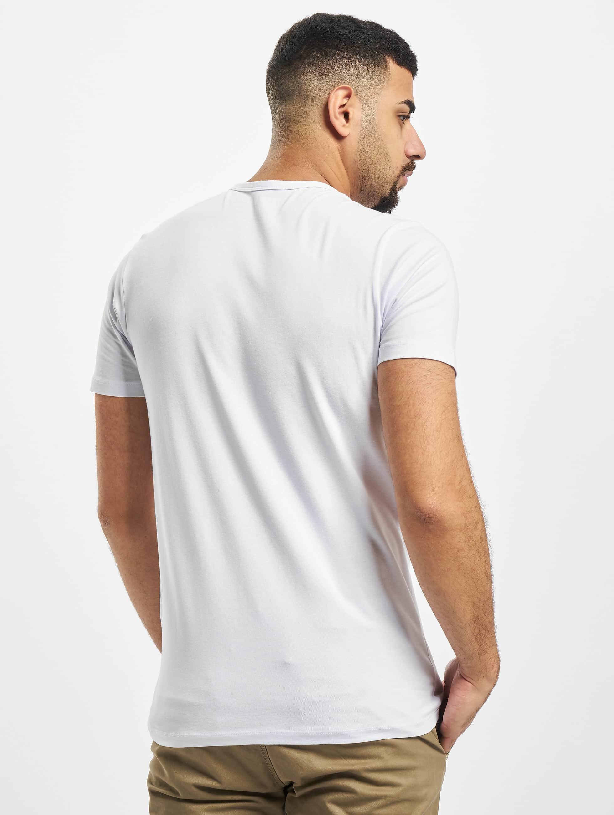 Jack & Jones T-Shirt Core Basic V-Neck weiß