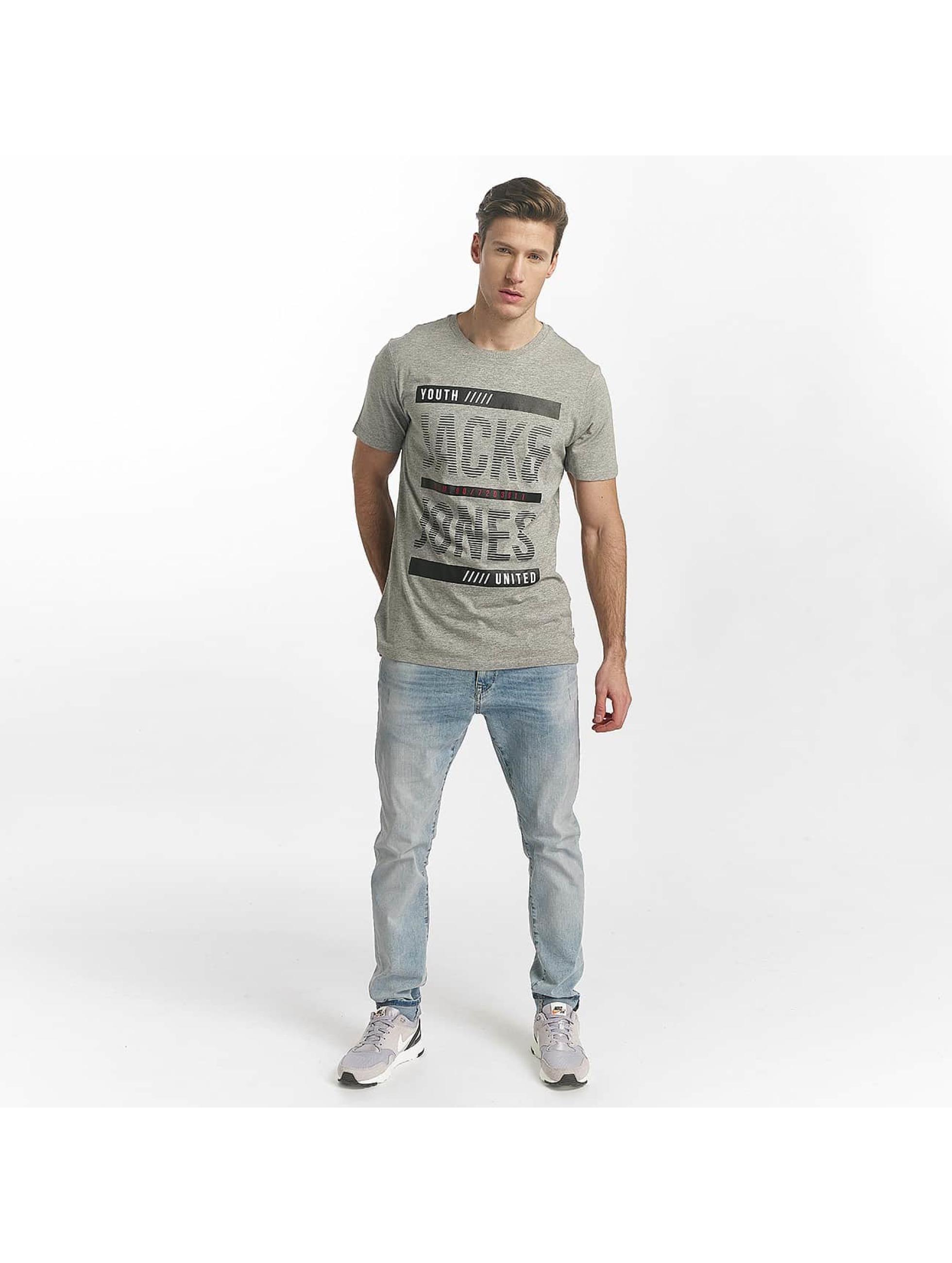 Jack & Jones T-Shirty jcoLine szary