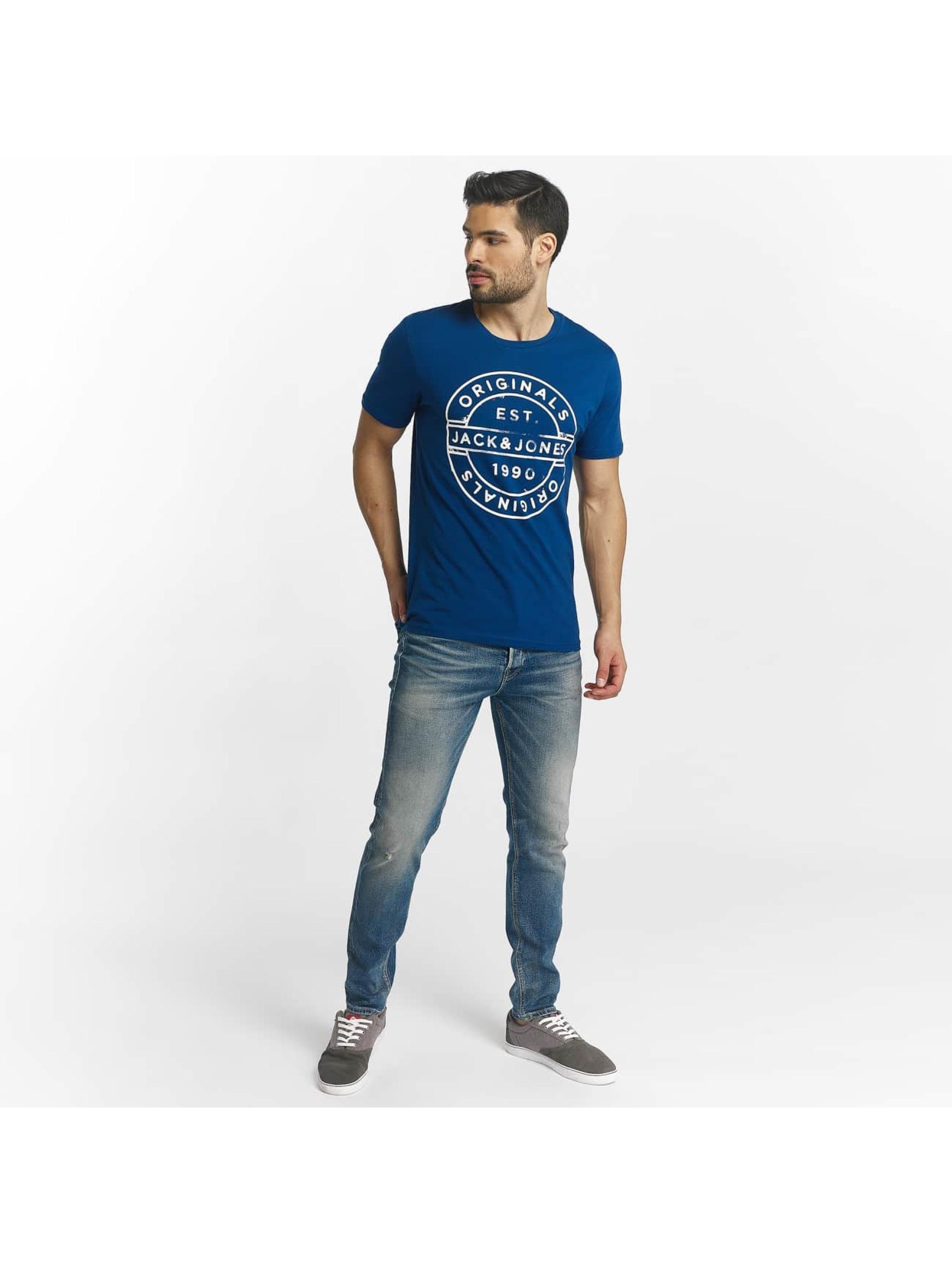 Jack & Jones T-skjorter jorSlack blå