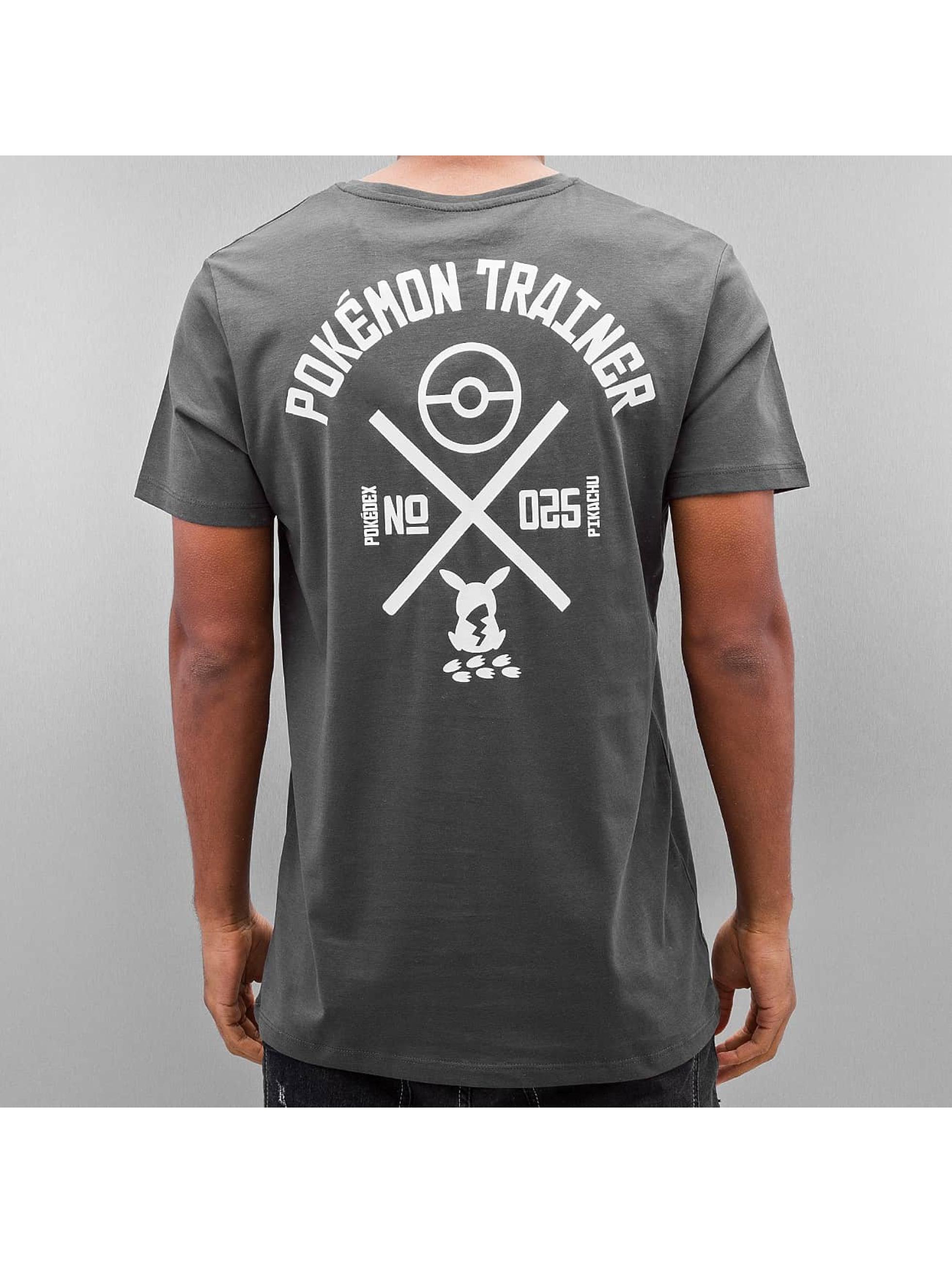 Jack & Jones T-skjorter jorPokemon grå