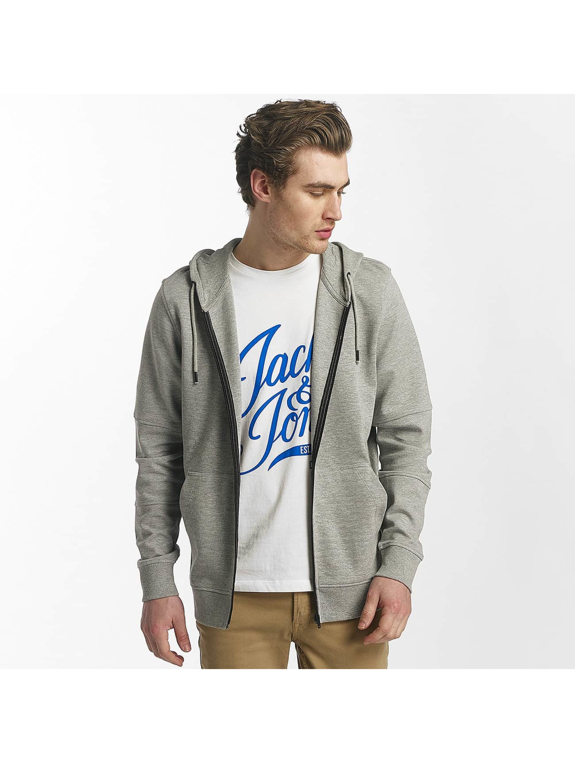 Jack & Jones Zip Hoodie jcoShaun grey