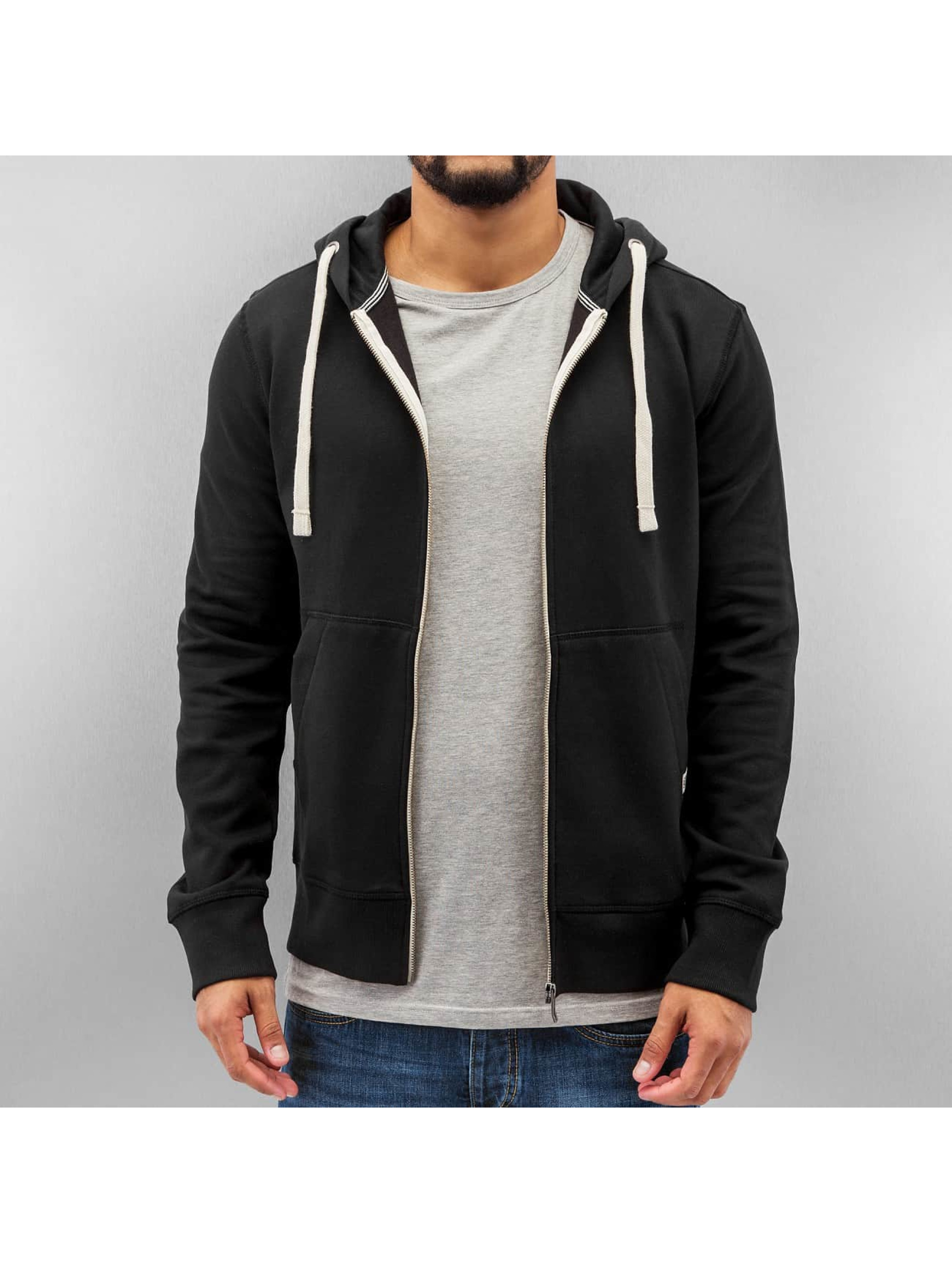 Jack & Jones Oberteil / Zip Hoodie Storm Sweat in schwarz