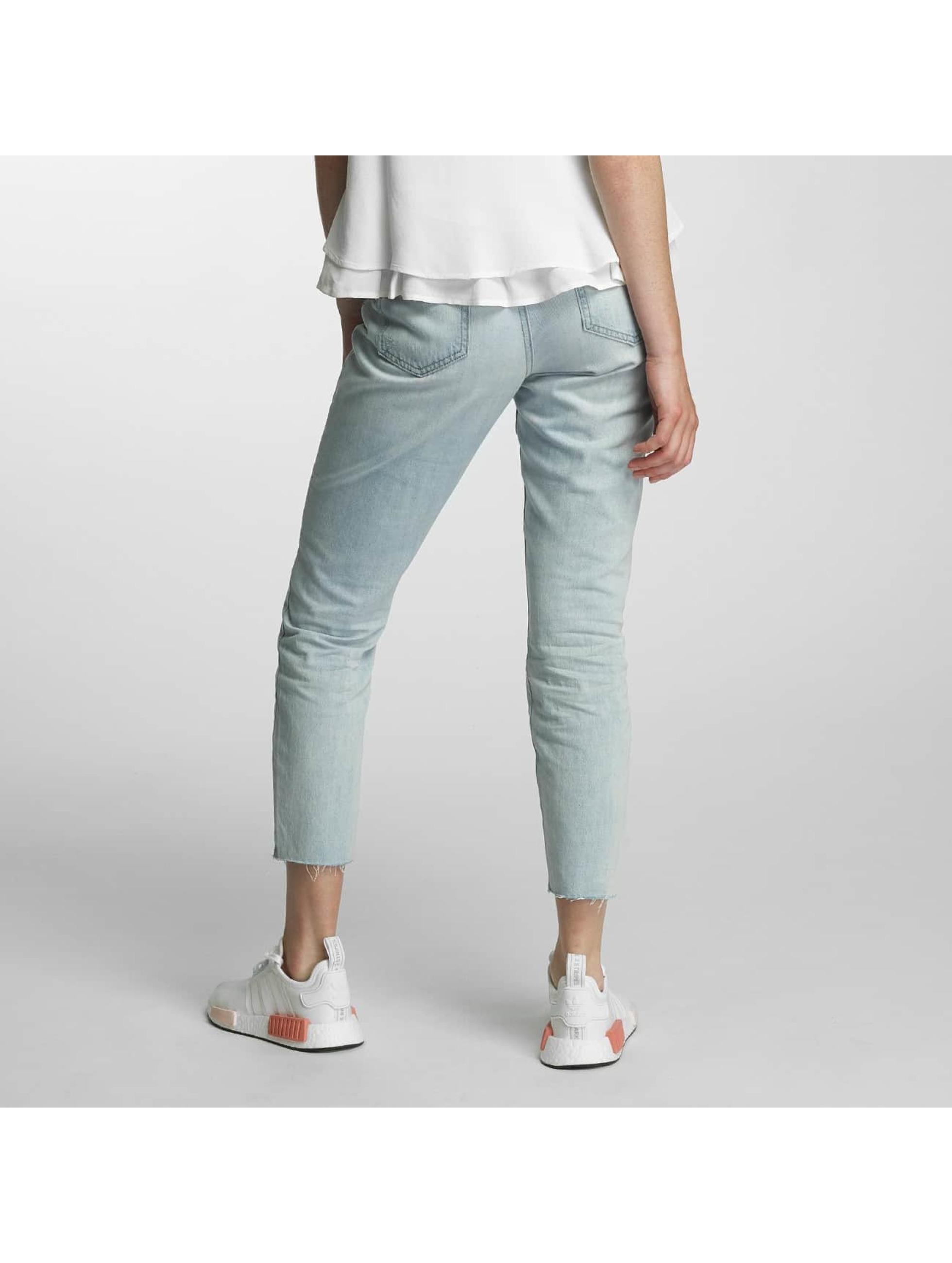 JACQUELINE de YONG Boyfriend Jeans jdySilver modrý