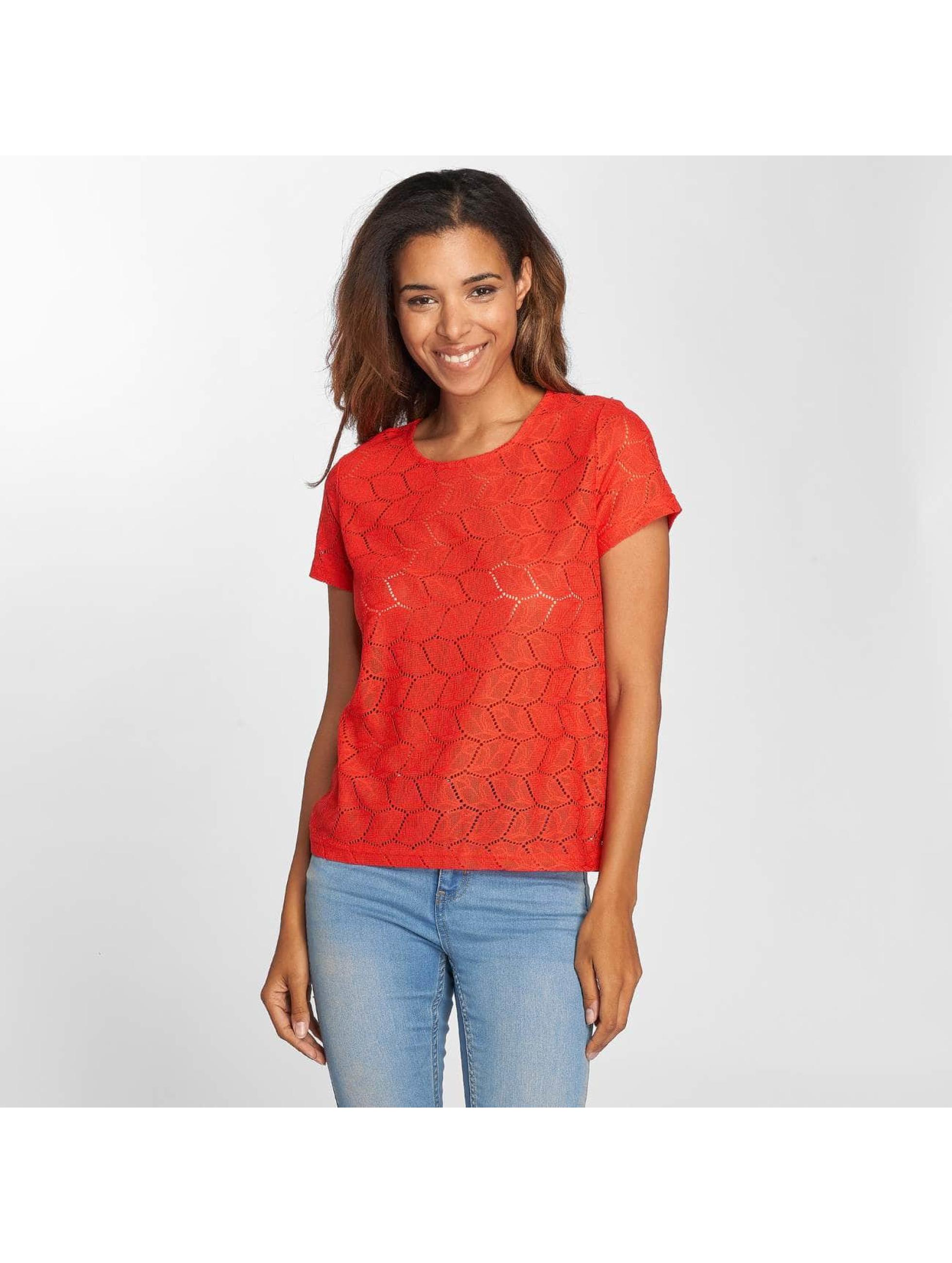 JACQUELINE de YONG T-Shirt jdyTag Lace red