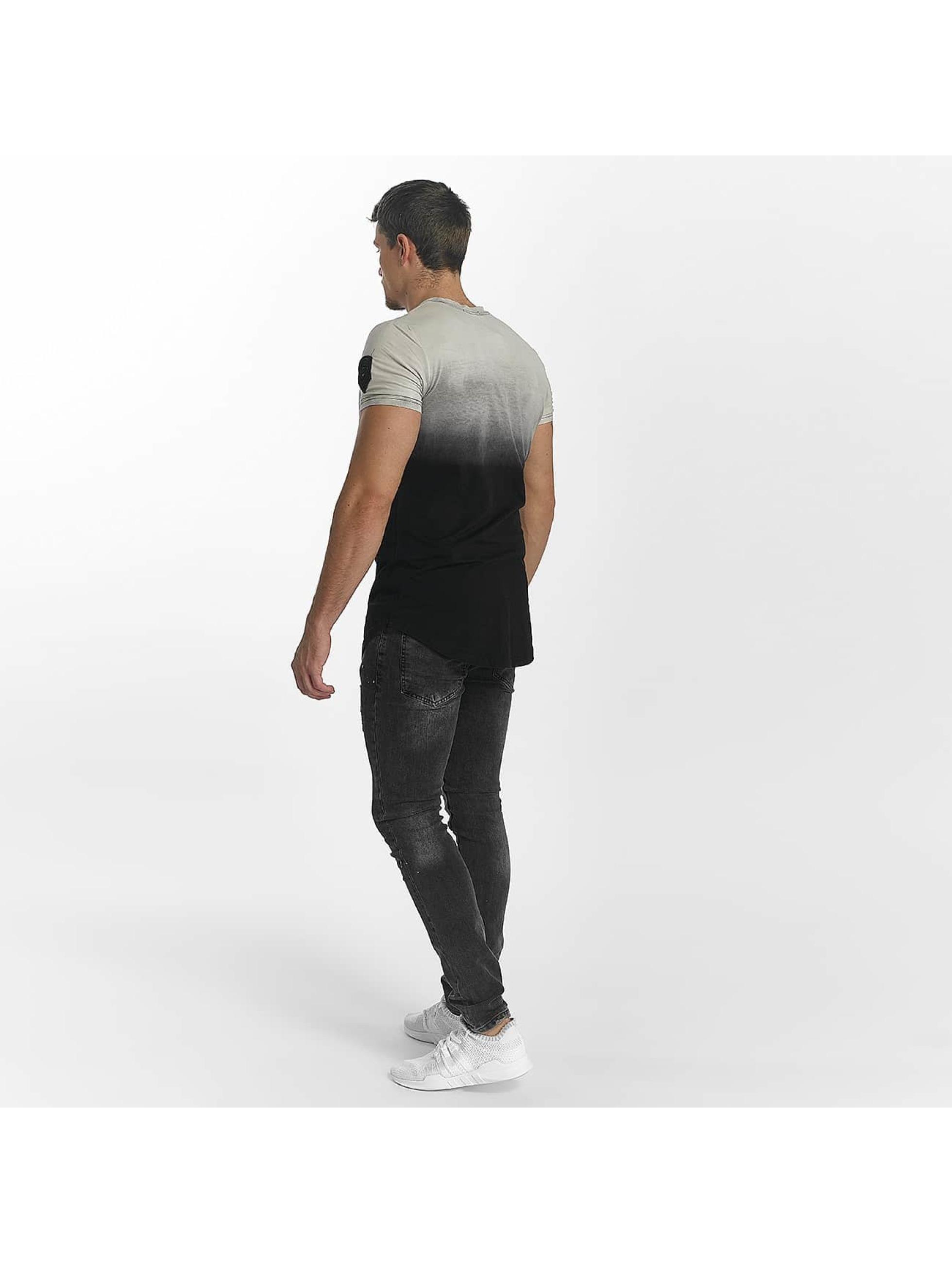 John H Jean skinny Diagonal Splatters noir