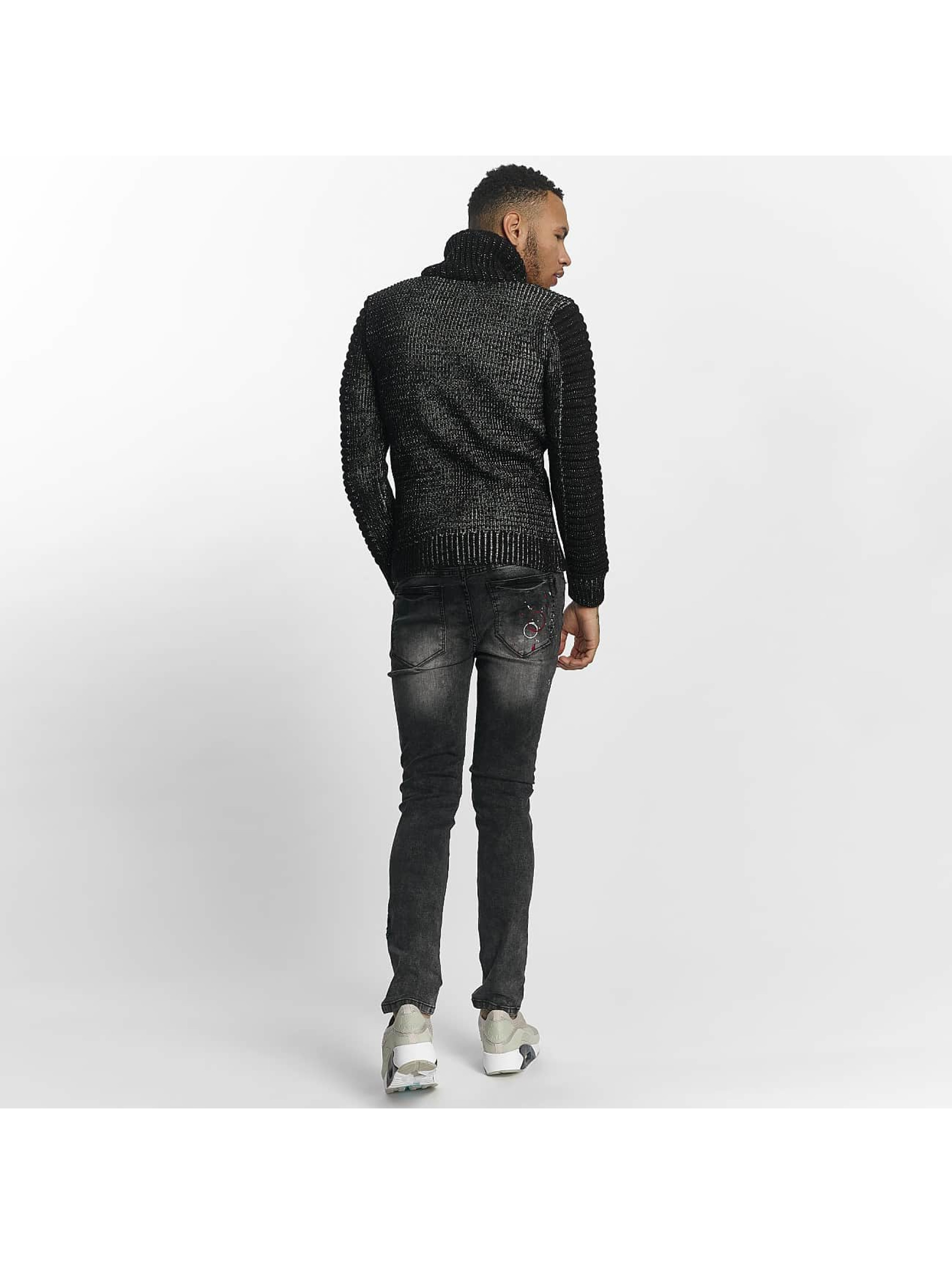 John H Sweat & Pull Knit noir