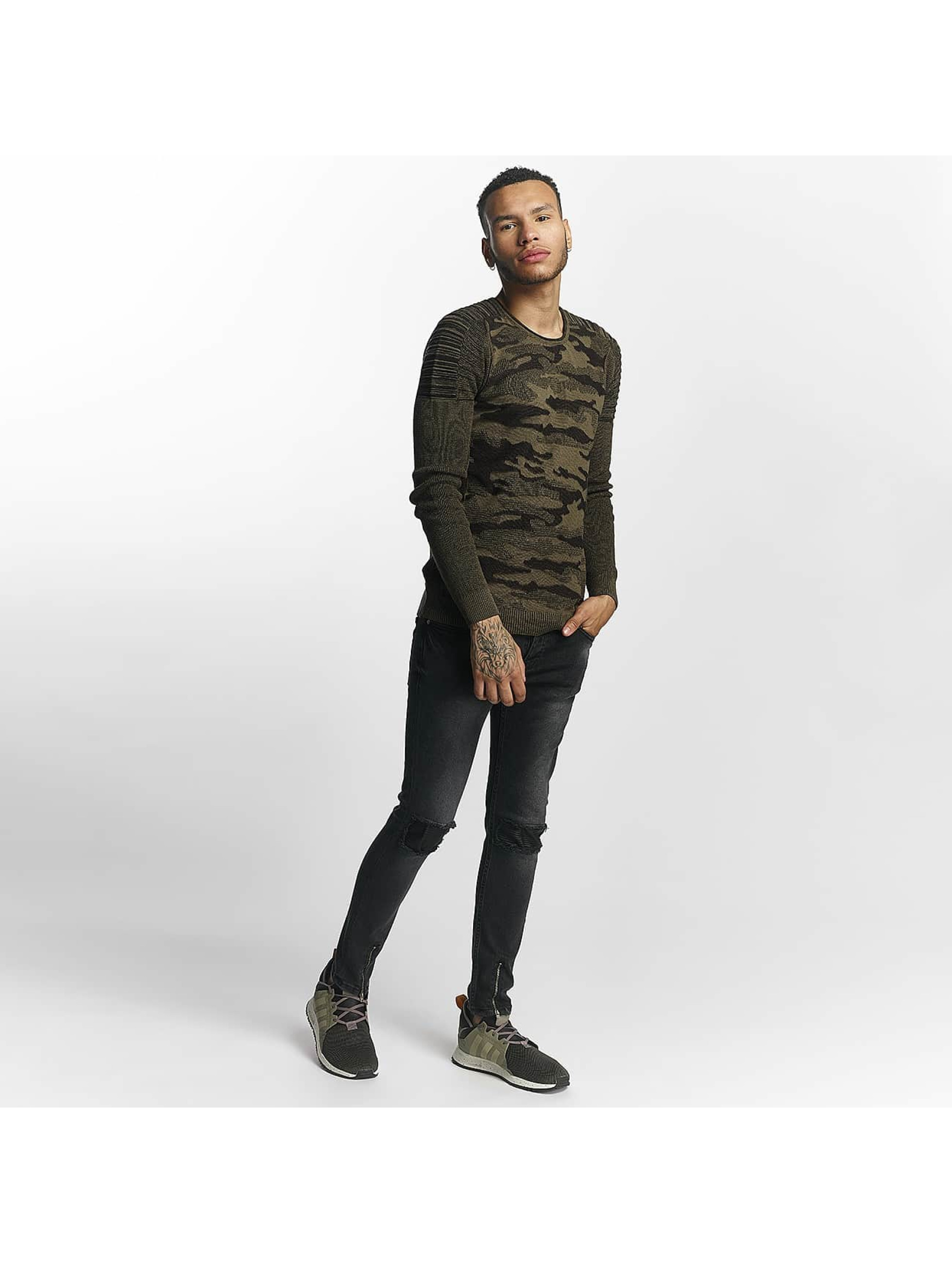 John H Sweat & Pull Knit Camo vert