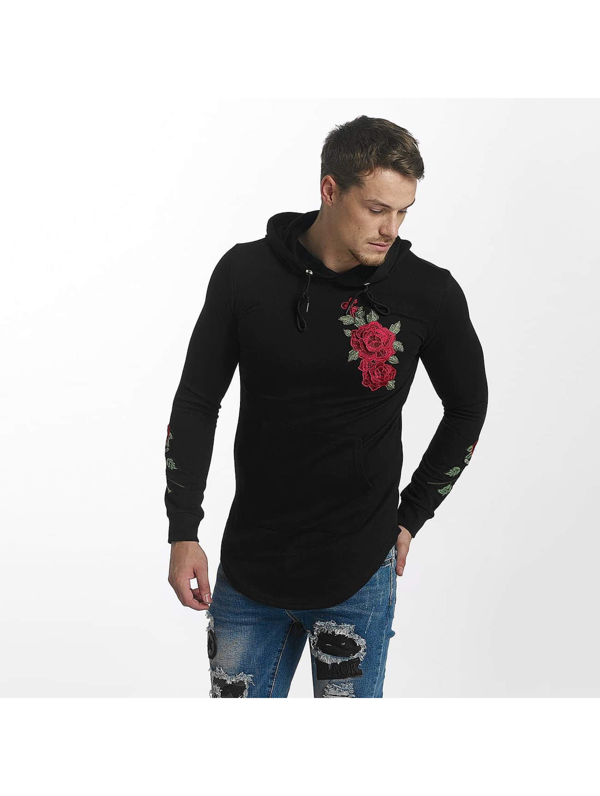 John H Sweat capuche Rose noir