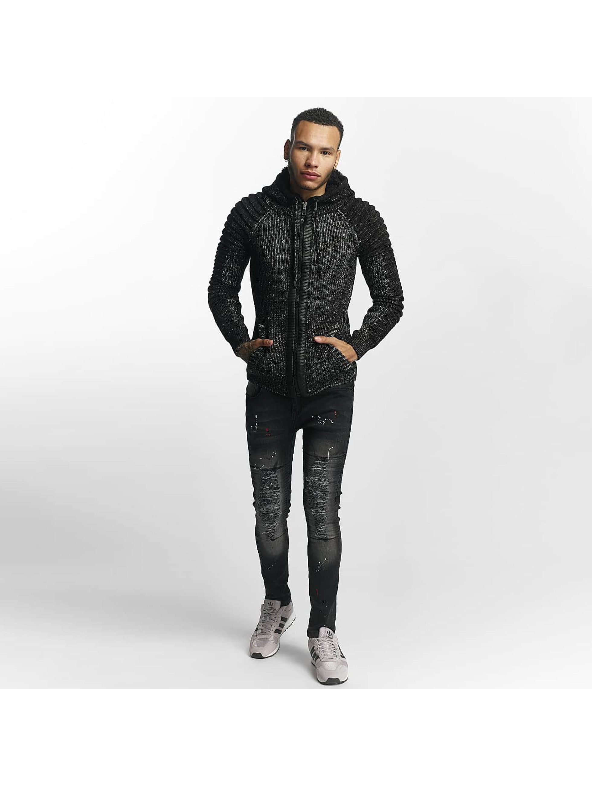 John H Sweat capuche zippé Knit noir