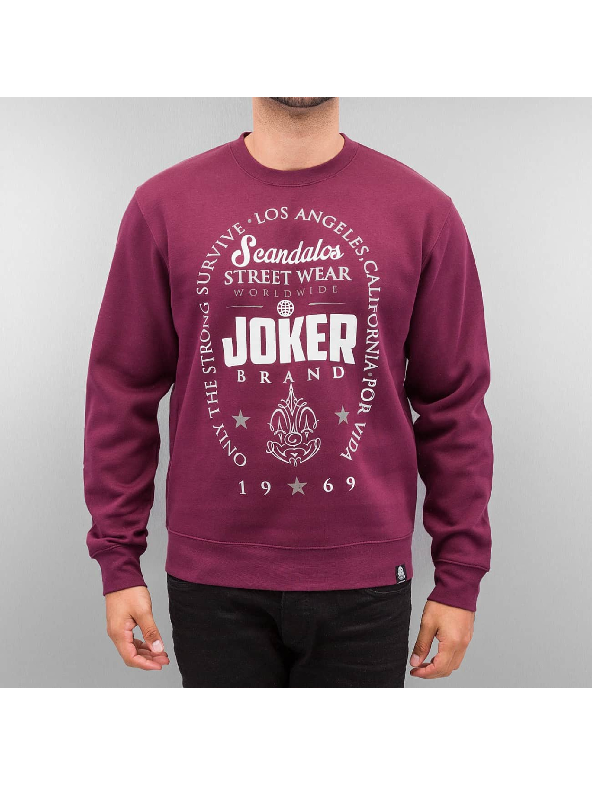 Joker Pullover Scandalos rot