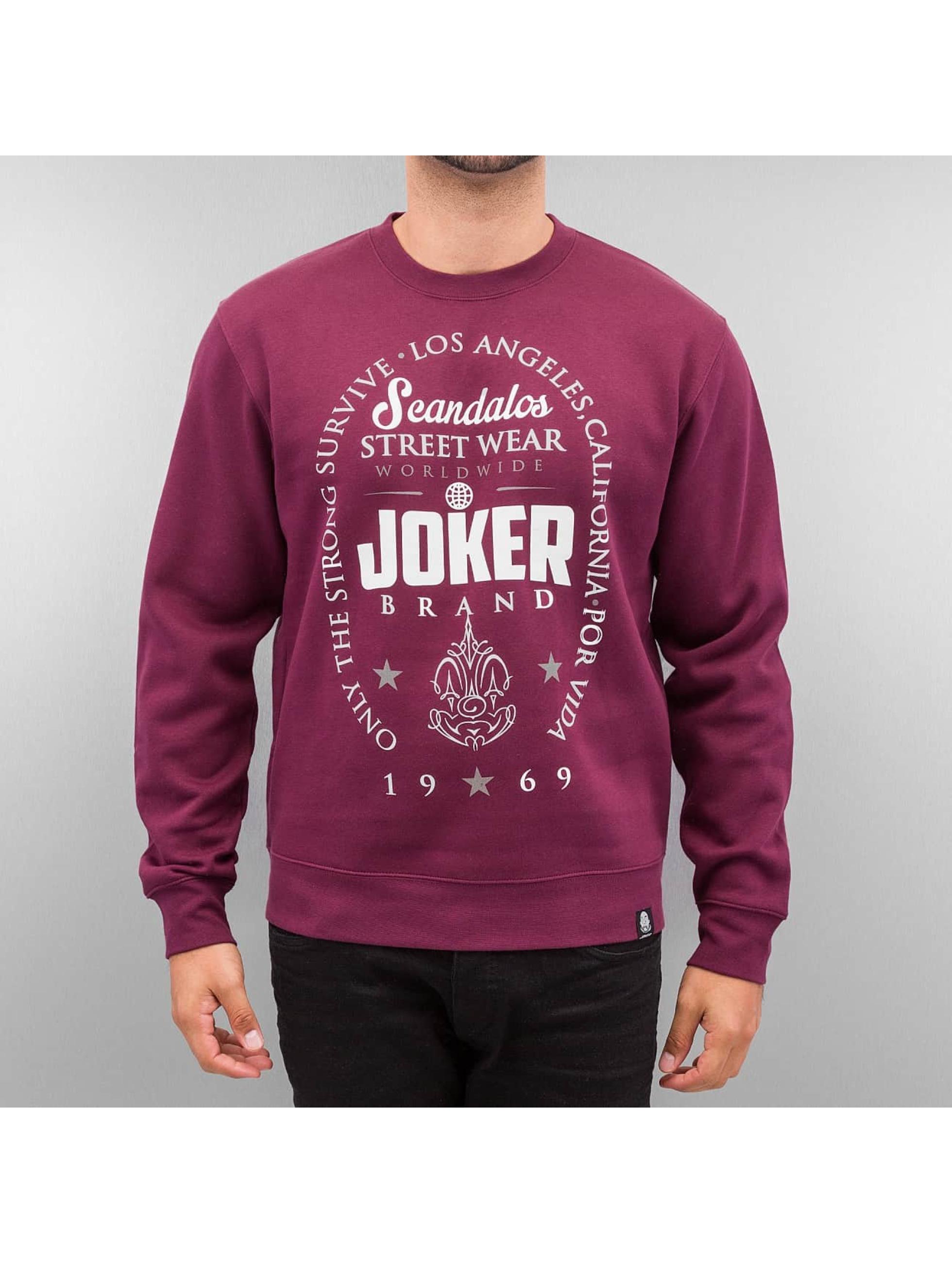 Joker Pulóvre Scandalos èervená