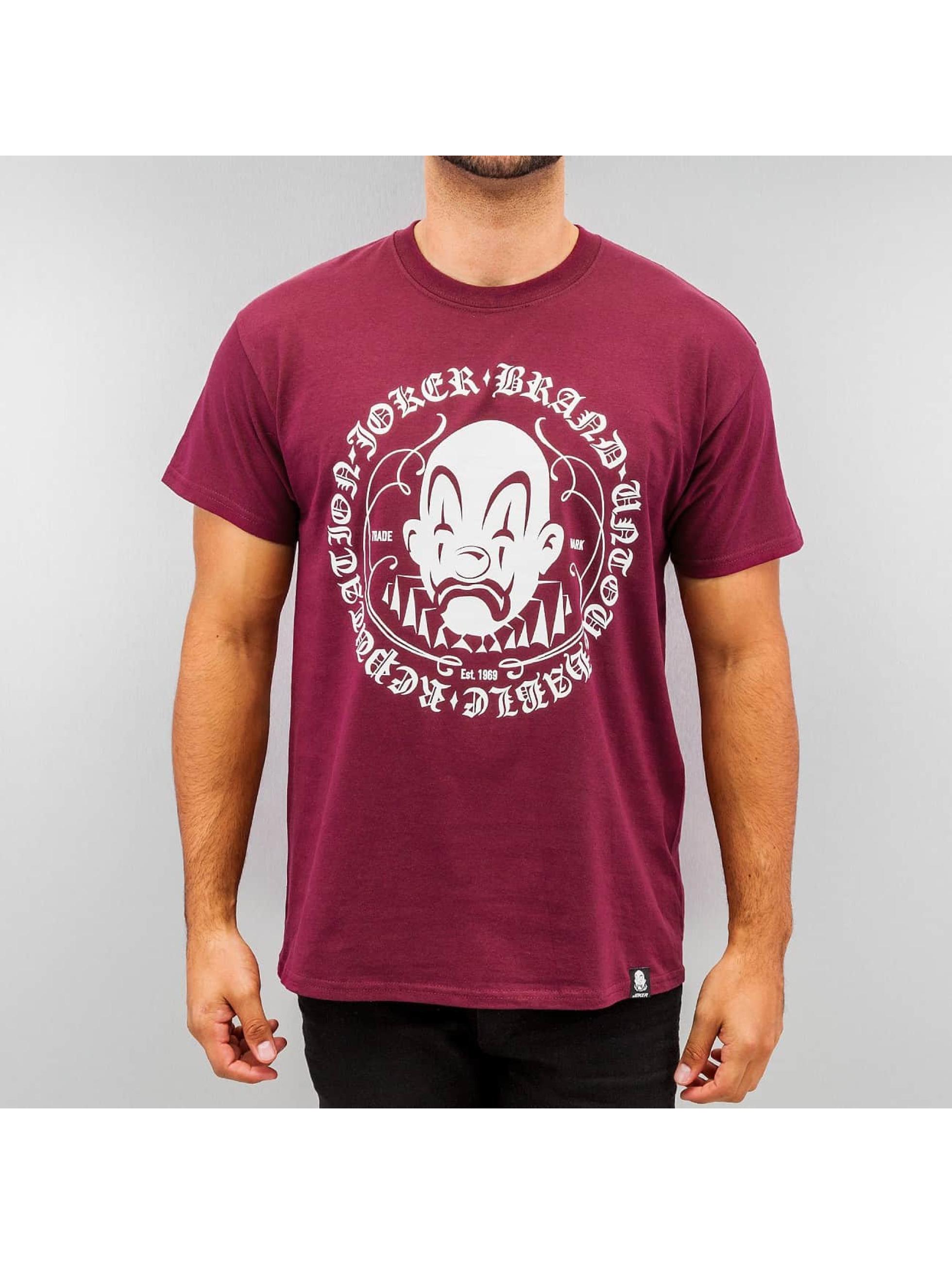 Joker T-paidat Circle Clown punainen