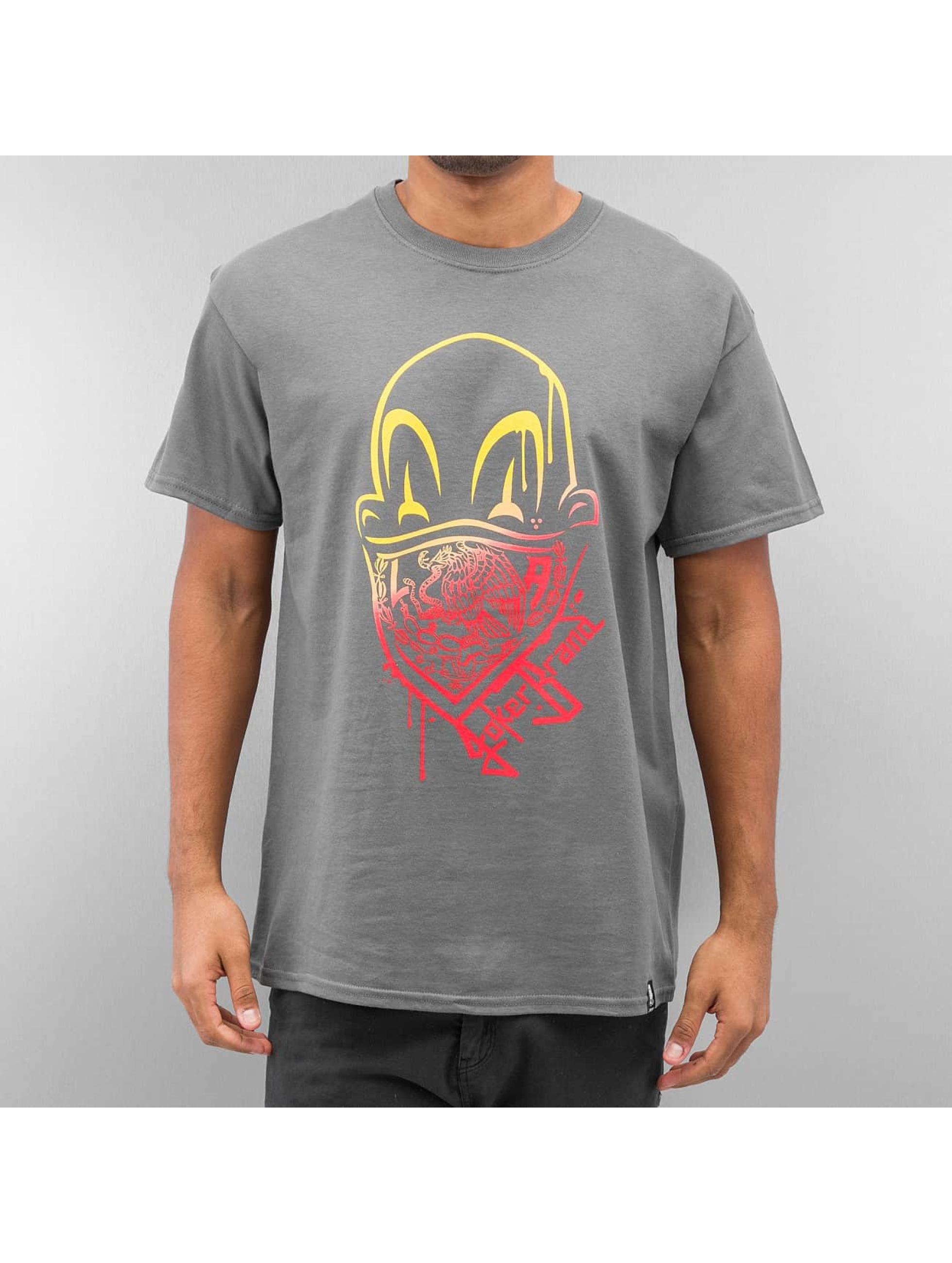 Joker t-shirt Clown Brand grijs