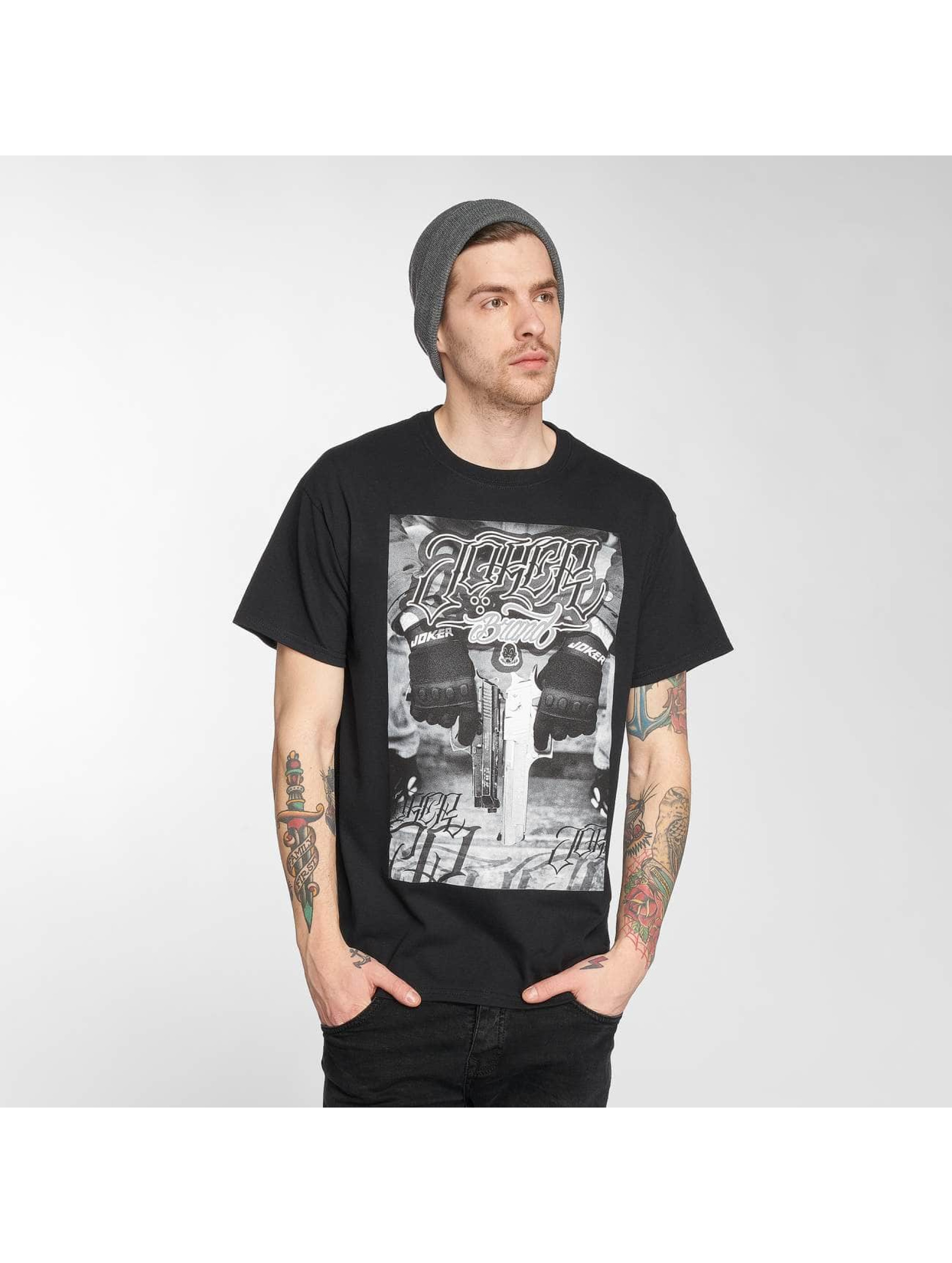 Joker t-shirt Gun zwart