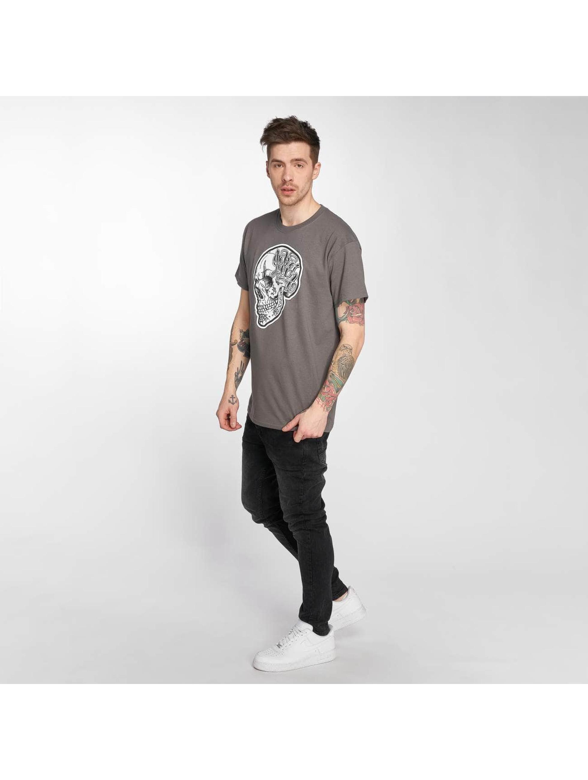 Joker T-shirts Skull grå