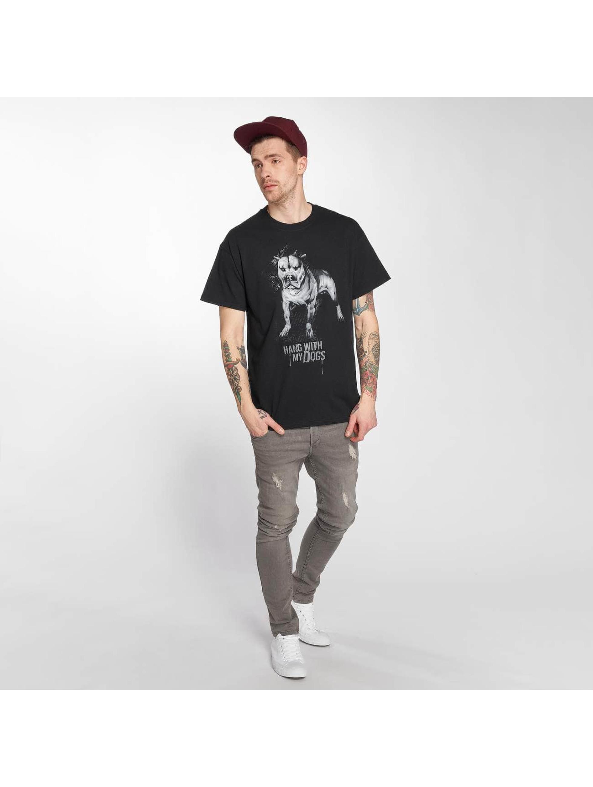 Joker T-skjorter Dogs svart