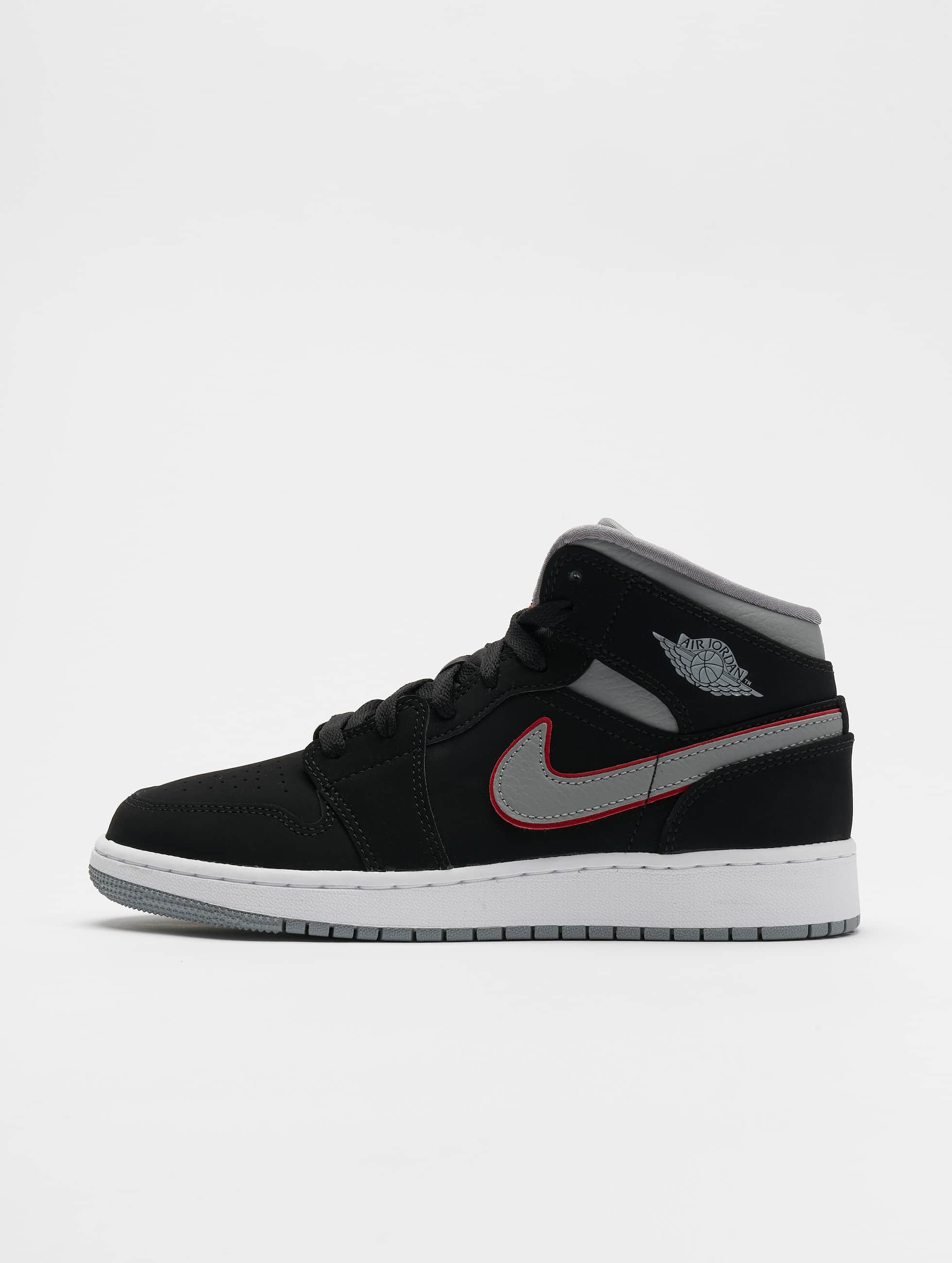livraison gratuite 8ef70 095bf Nike Air Jordan 1 Mid (GS) Sneakers Black/Particle Grey/White/Gym Red