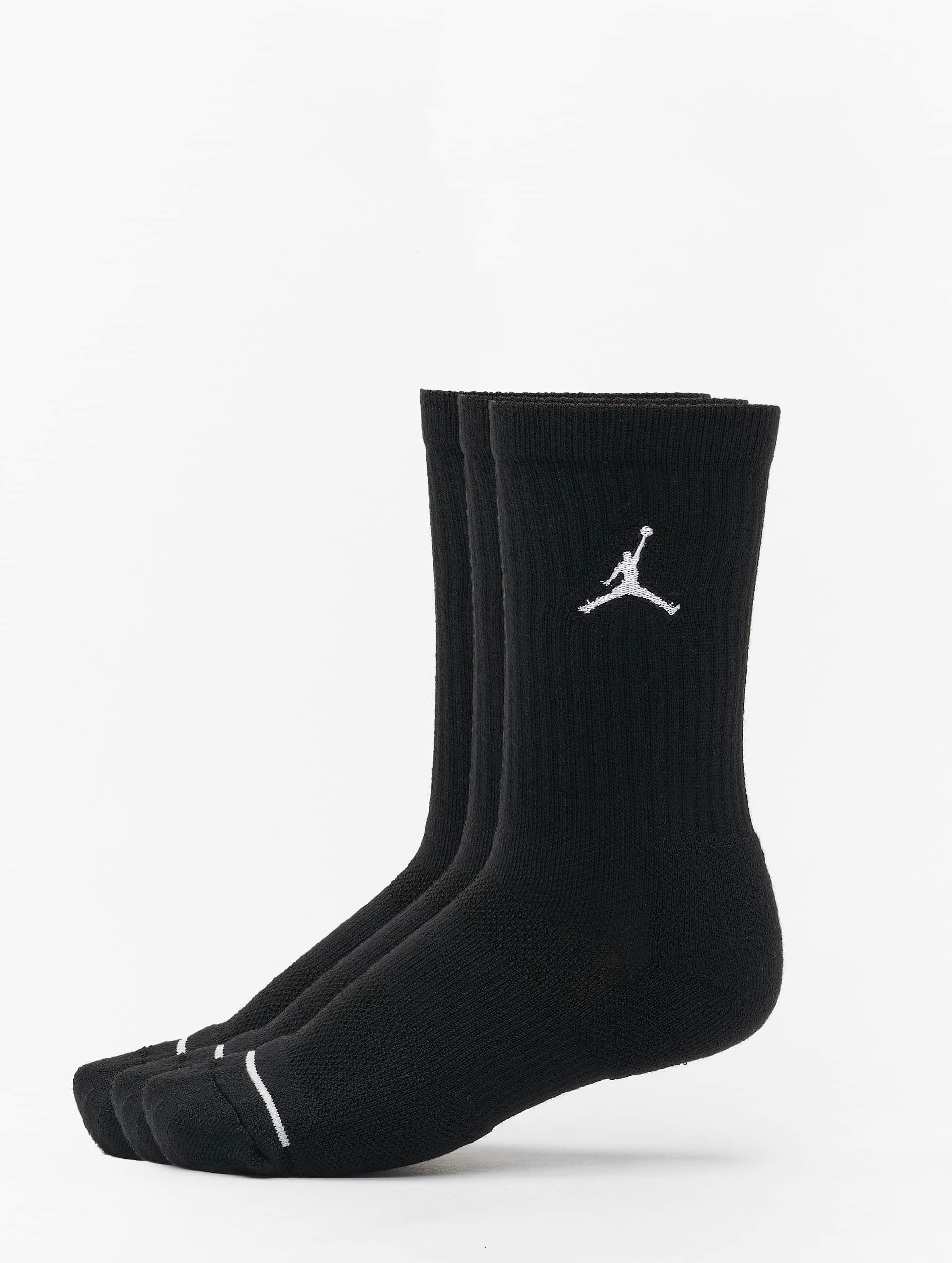 Jordan 3 Pack Cotton Crew noir Chaussettes