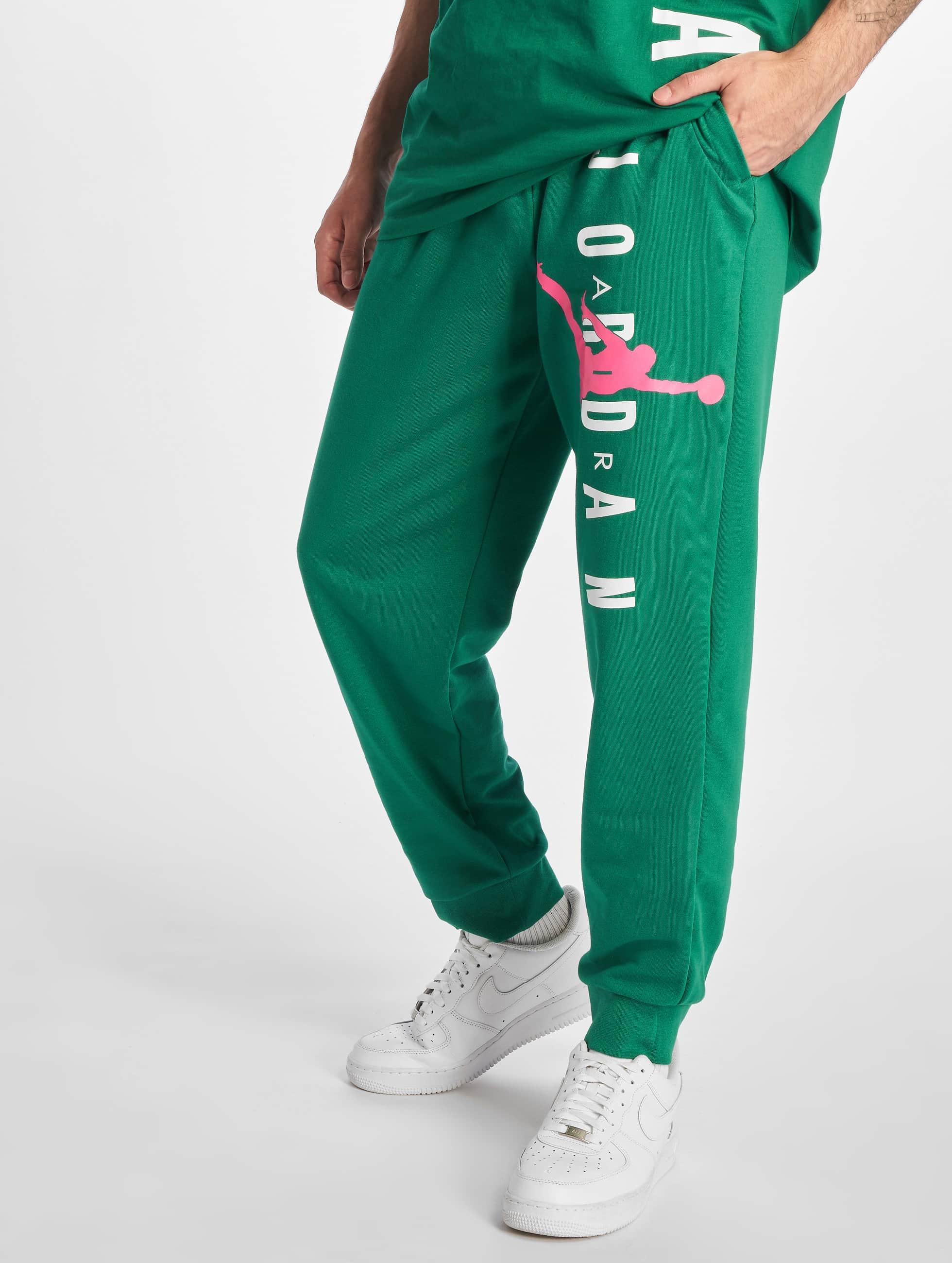 Jordan Jumpman Air LWT Fleece Pants Mystic GreenHyper Pink