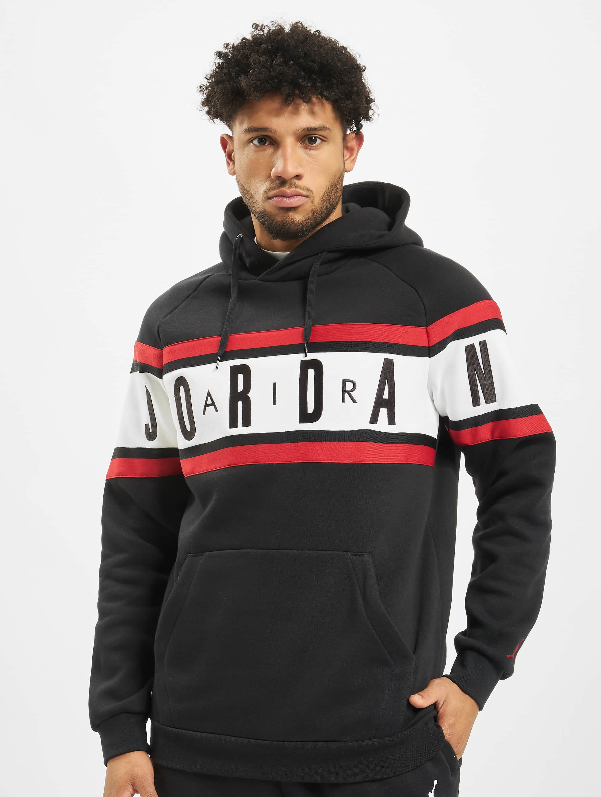 Jordan Air Fleece Sweatshirt BlackBlackWhiteGym Red