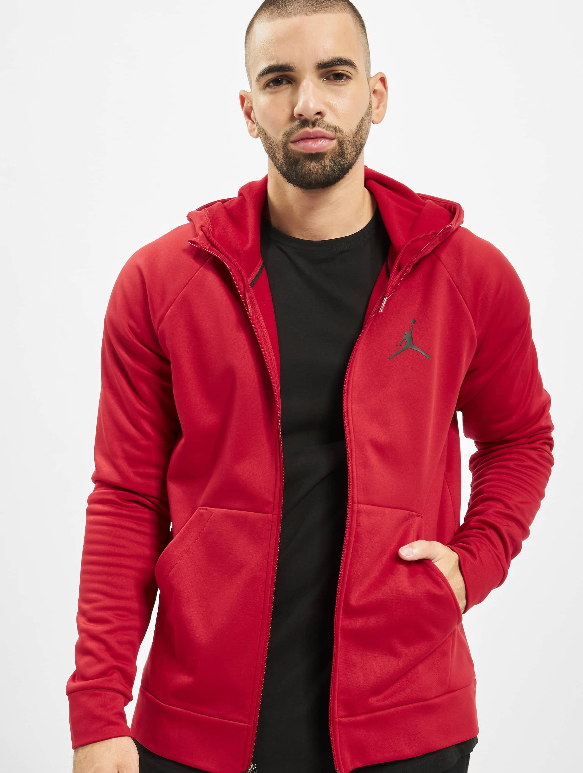 sweat a capuche jordan noir zip rouge