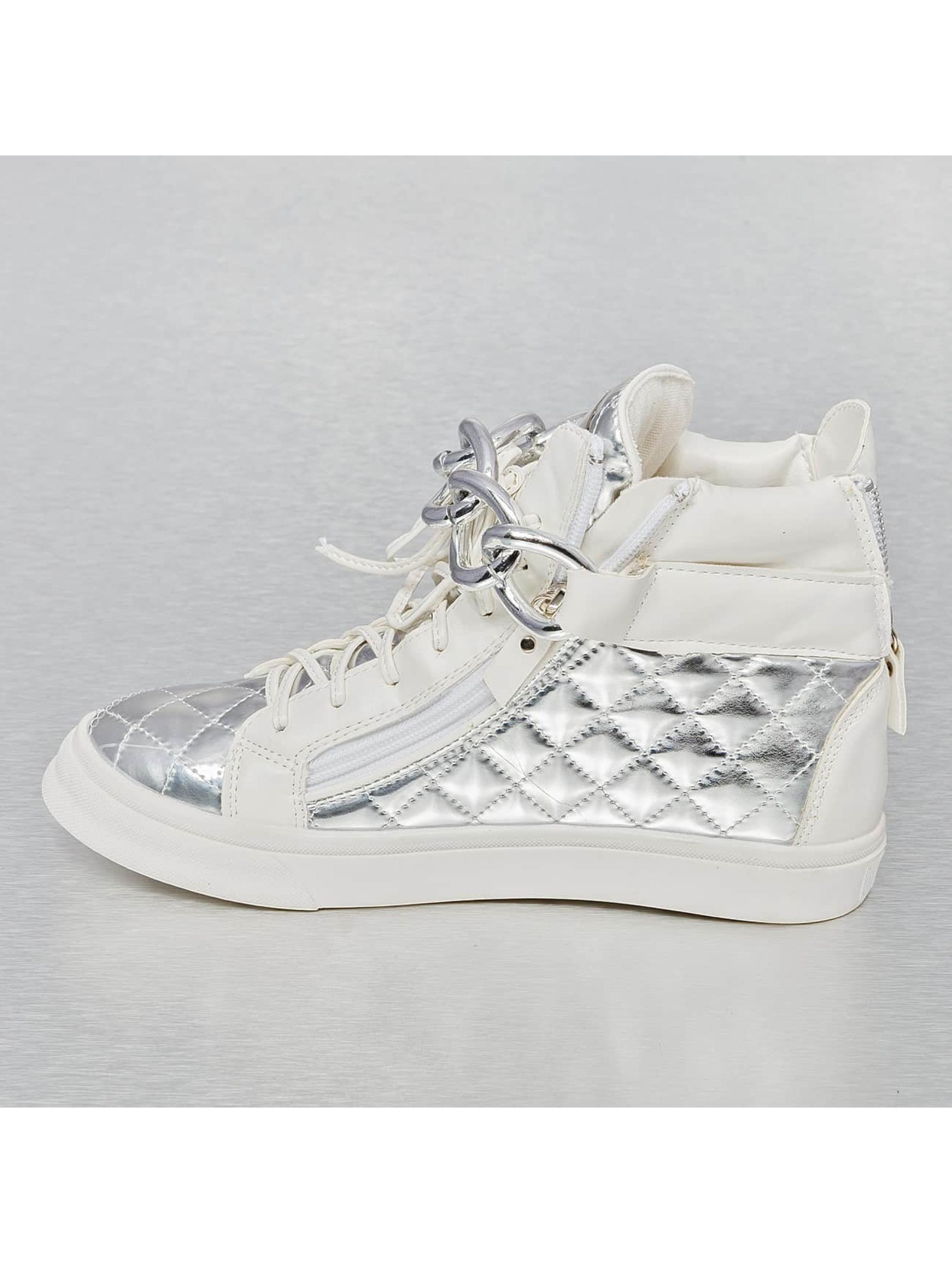Jumex Baskets High Top Metalic blanc
