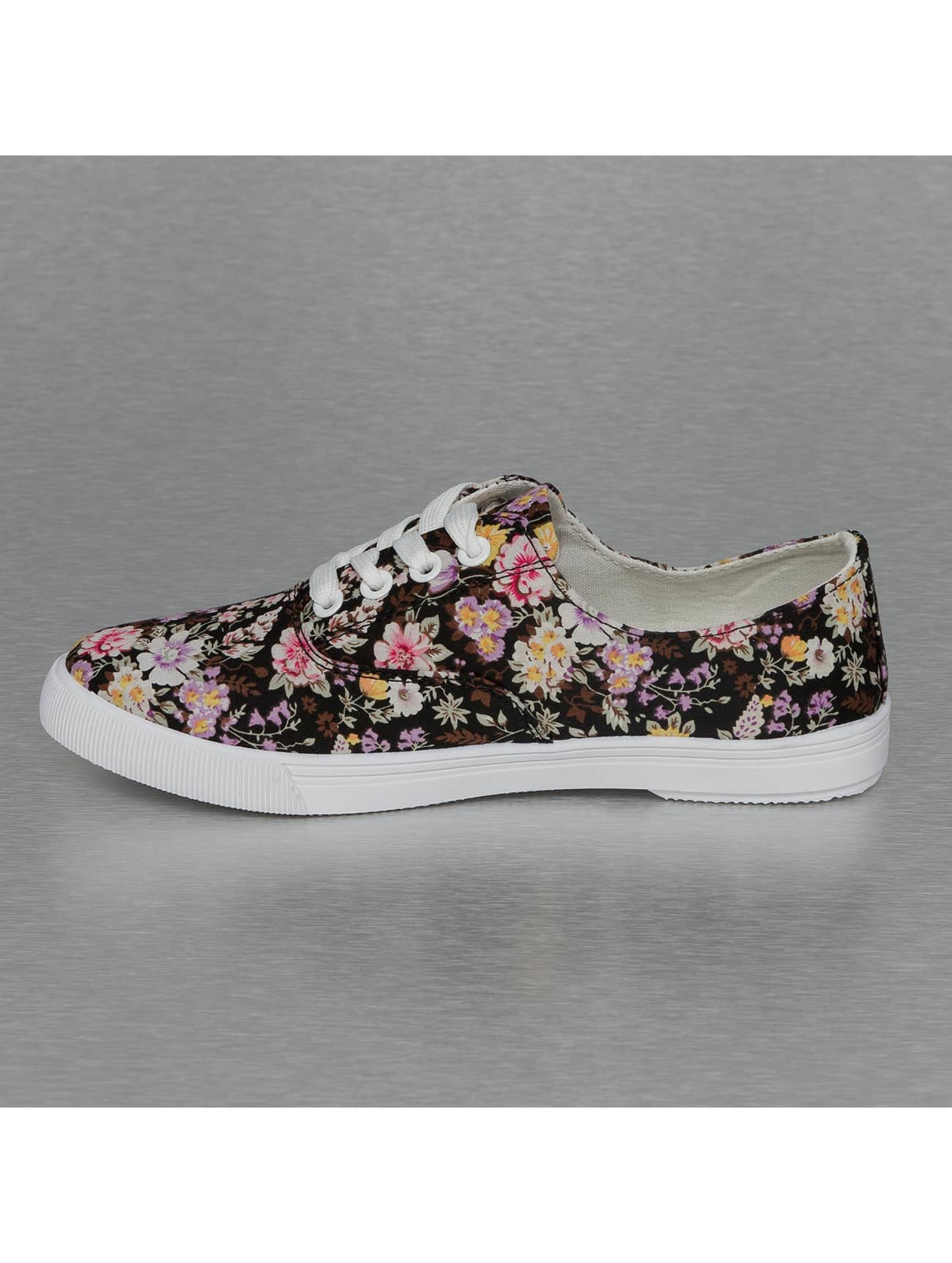 Jumex Sneaker Summer Flower Low schwarz