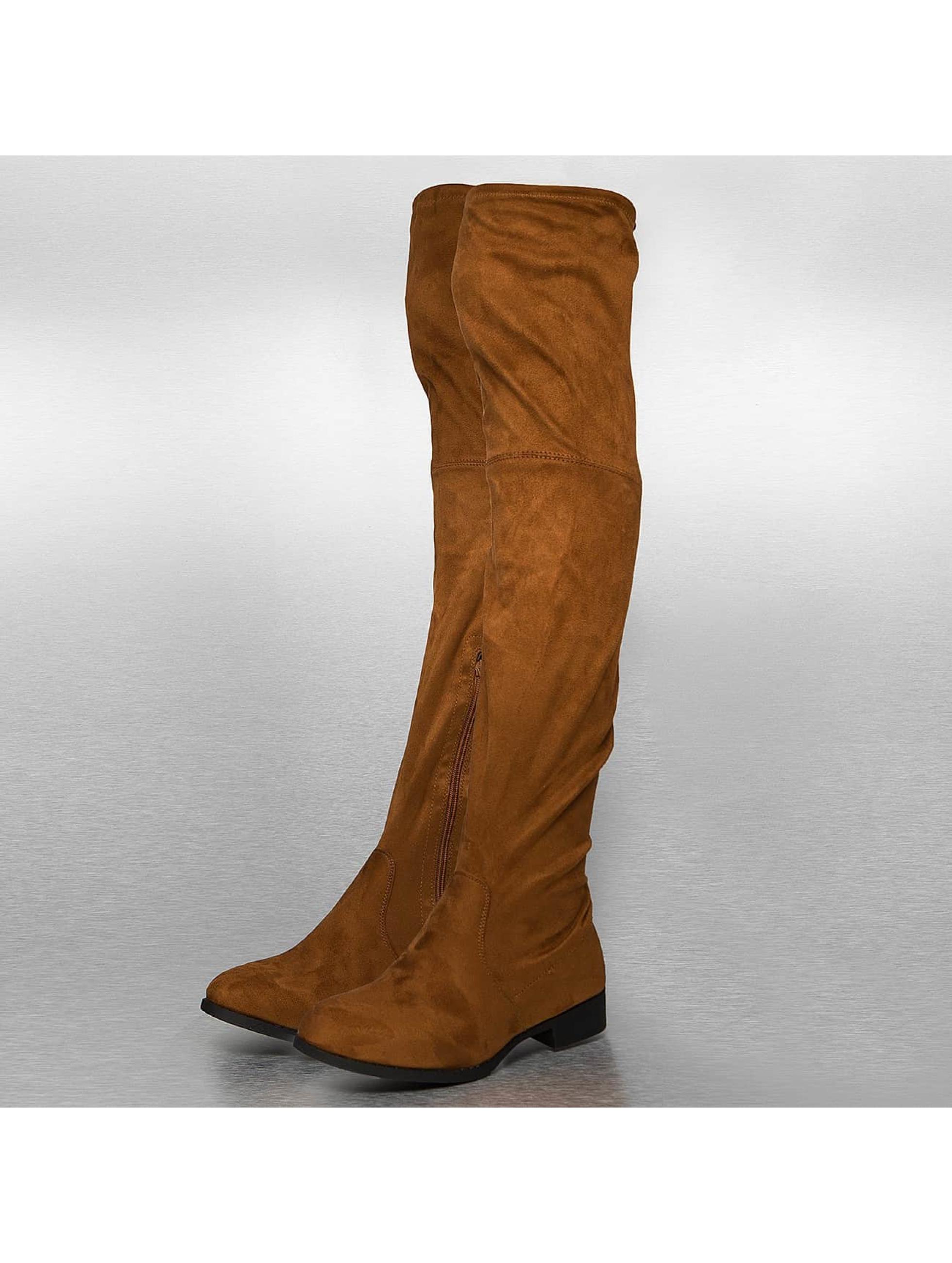Stiefel Overknees in braun