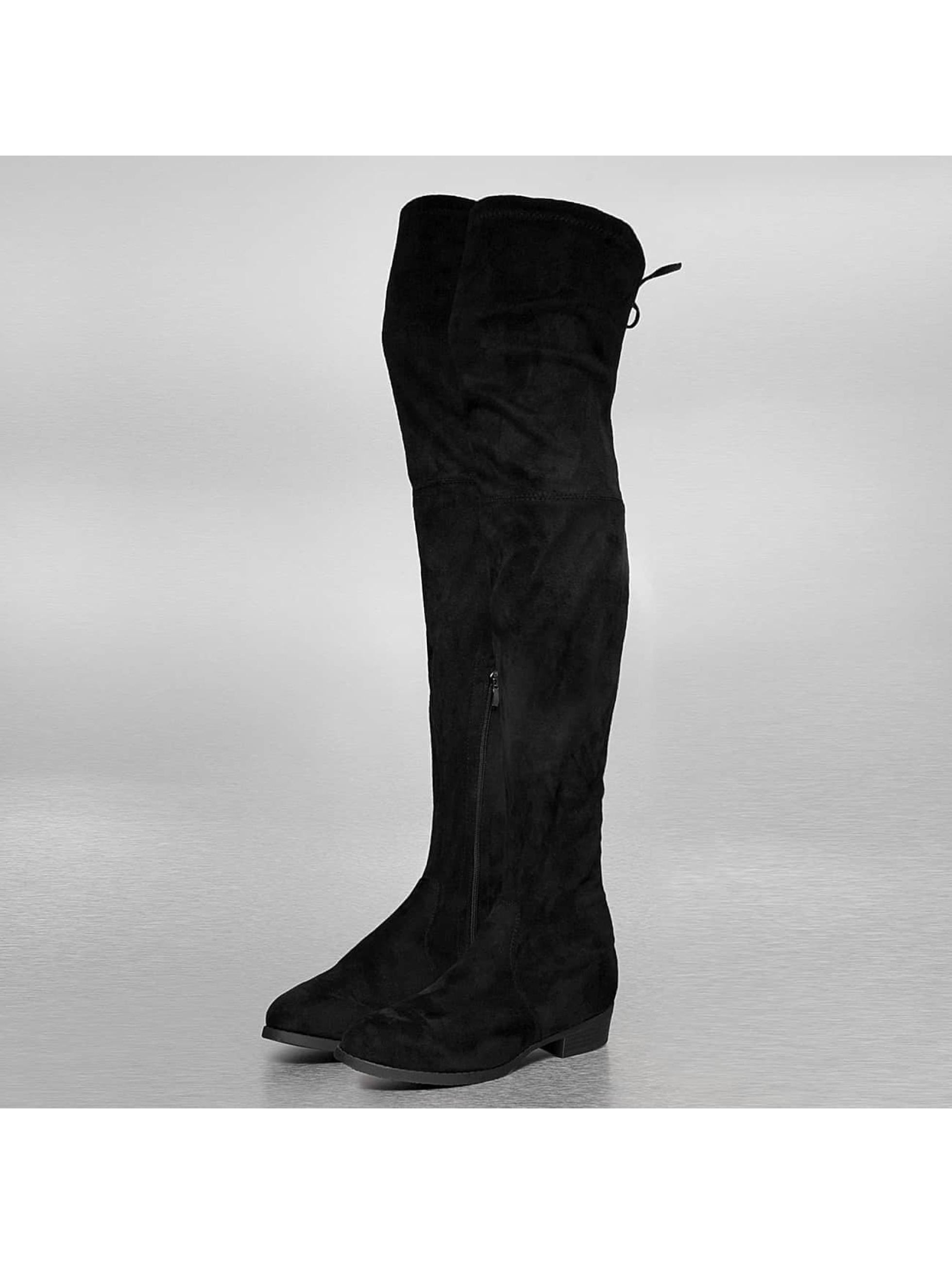 Stiefel Overknees in schwarz