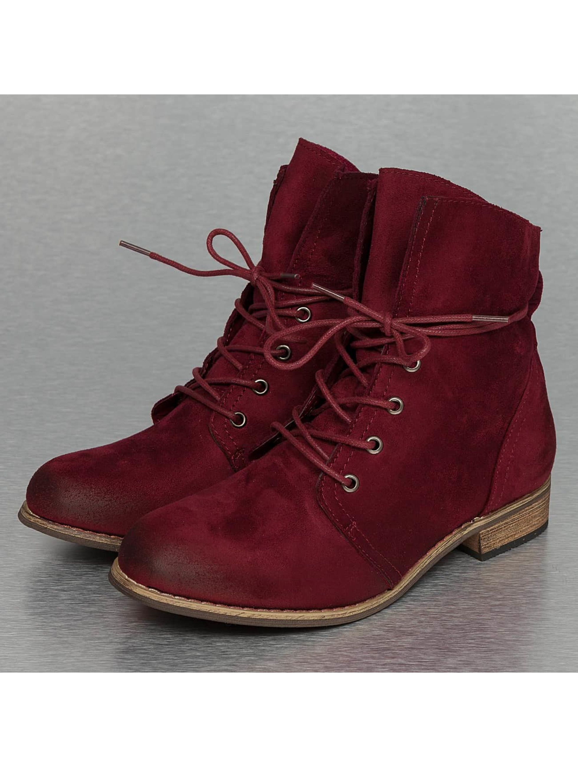 Stiefelette Basic in rot