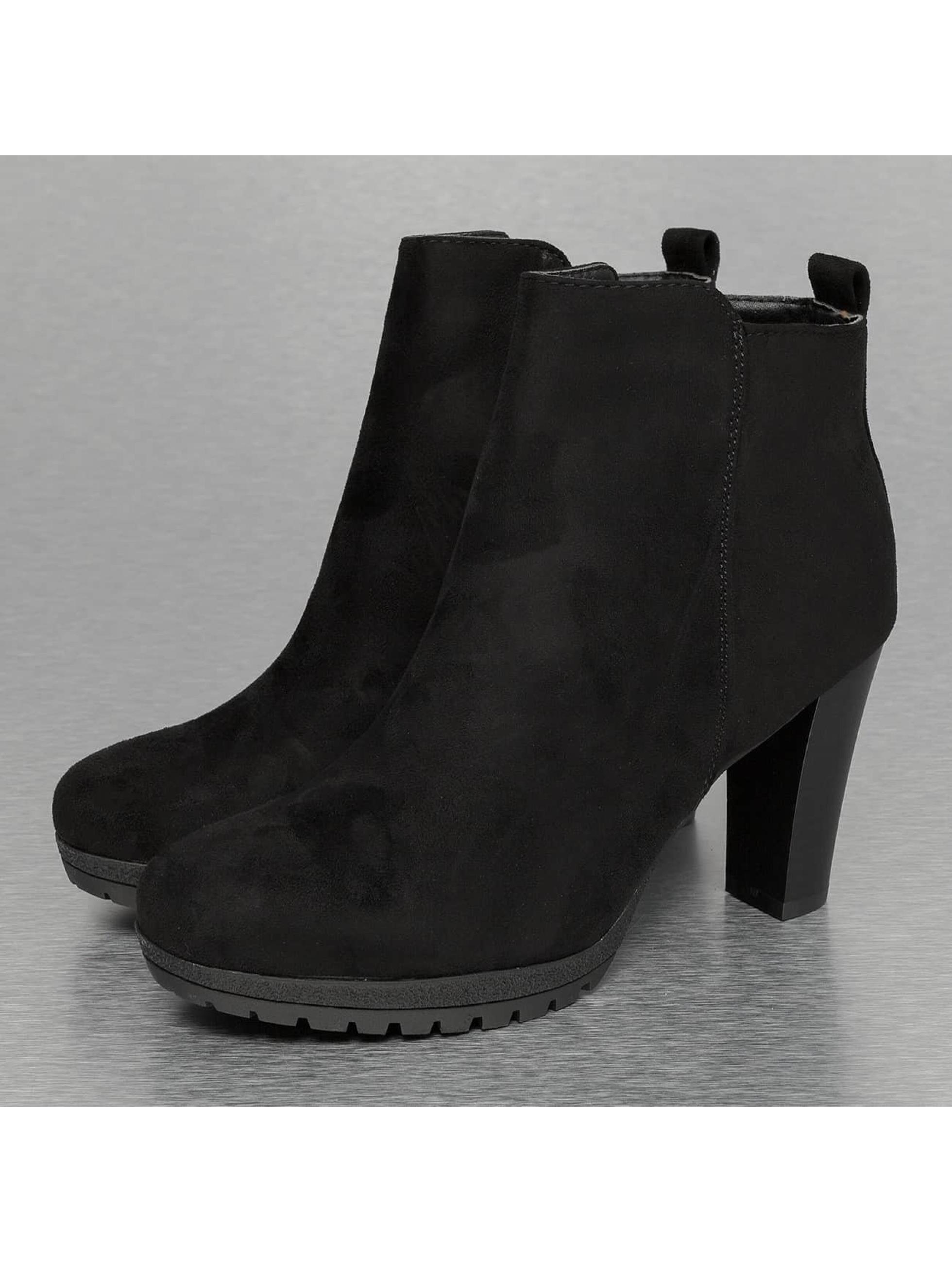 Stiefelette High in schwarz