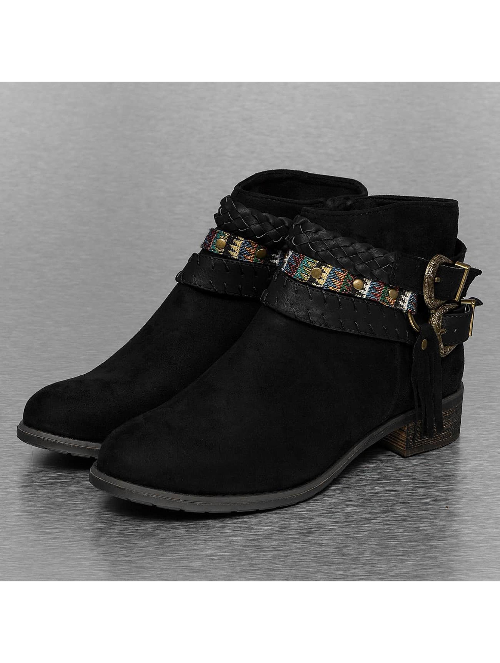 Stiefelette Chain Ethno in schwarz