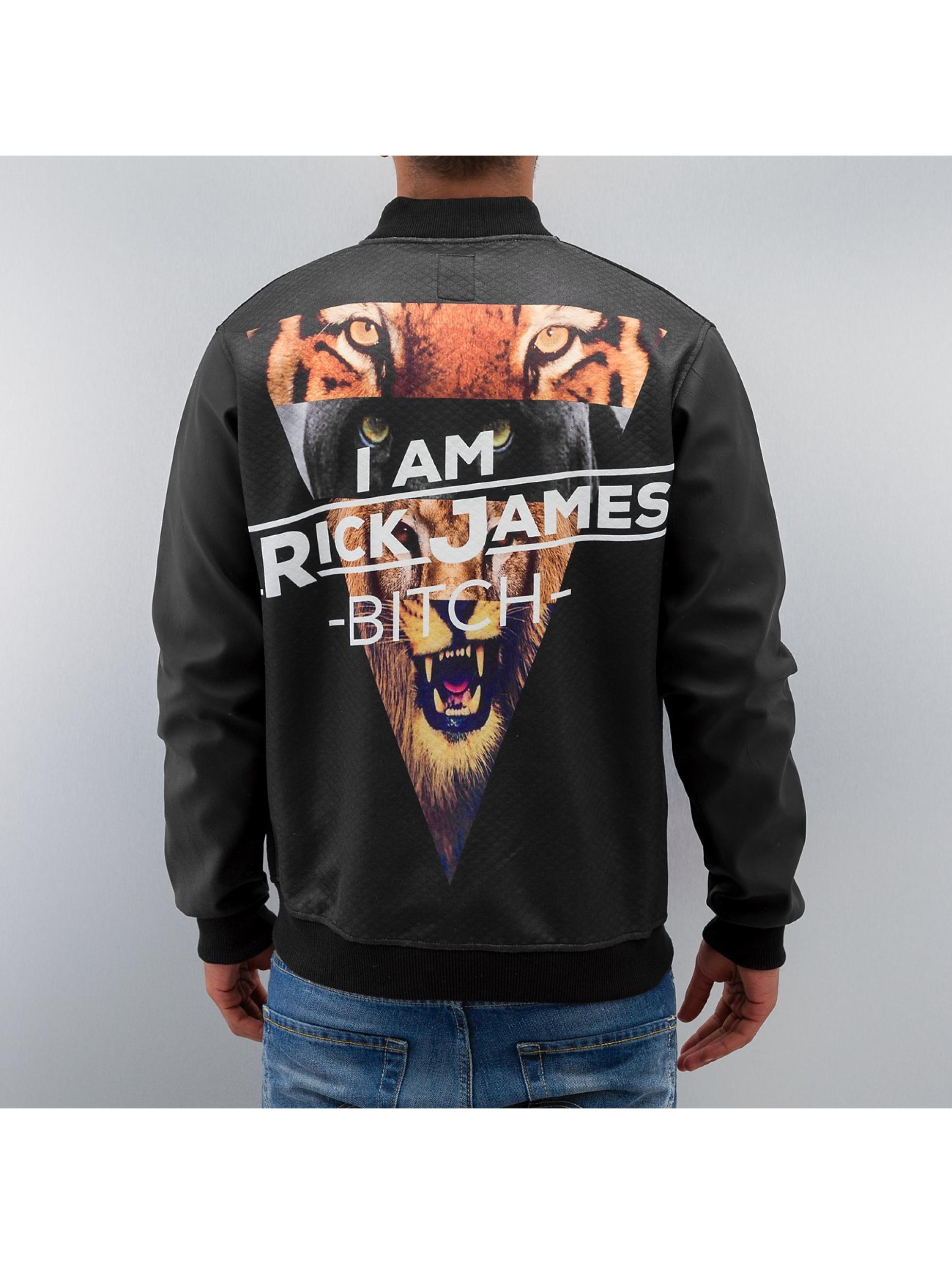 Just Rhyse Демисезонная куртка Jack James черный