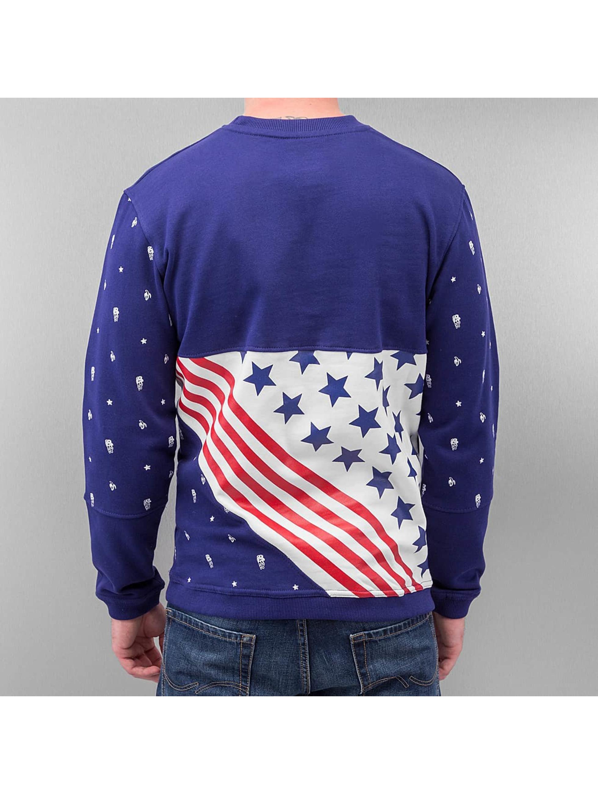 Just Rhyse Пуловер US Logo синий